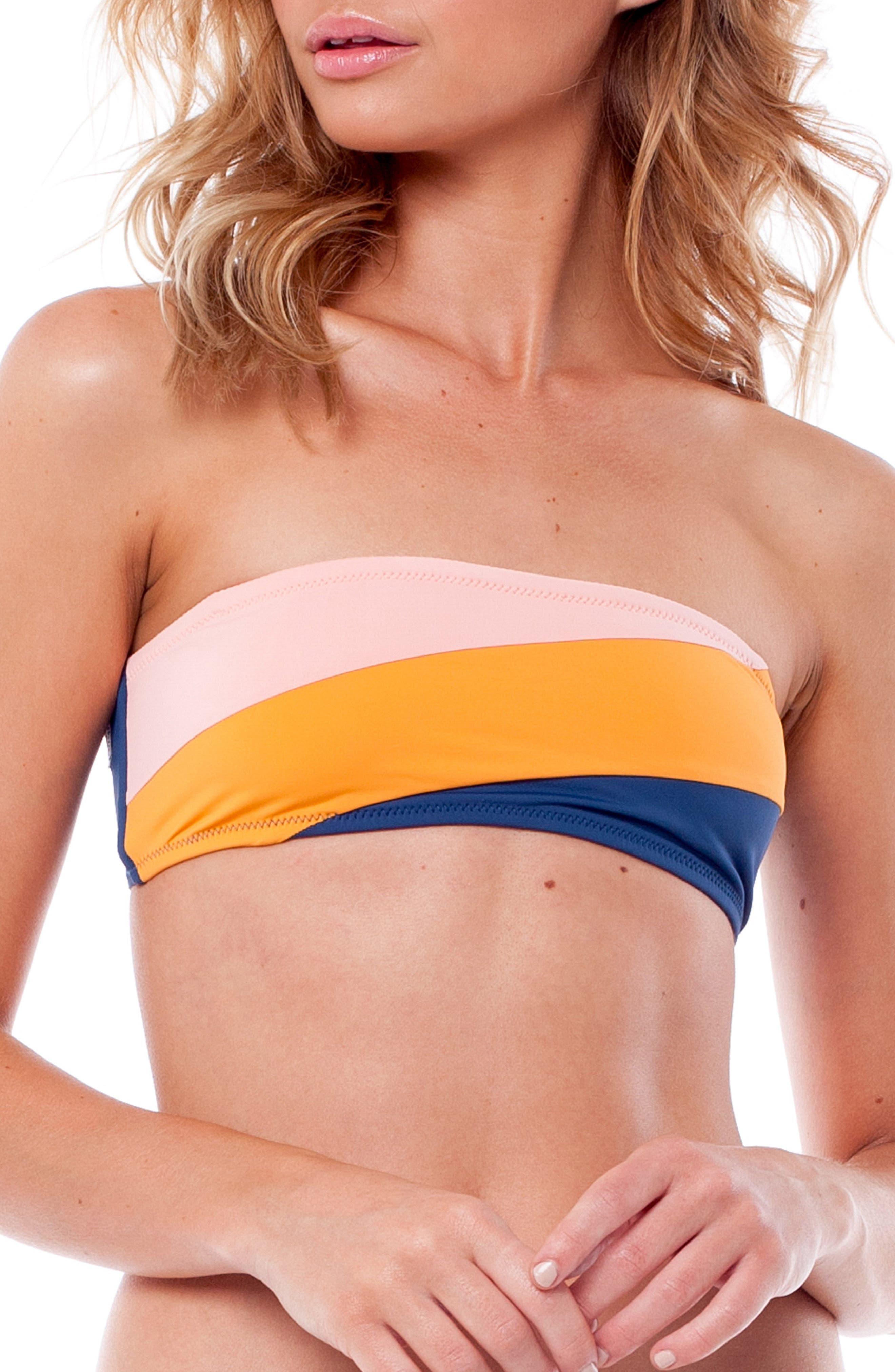 North Shore Bandeau Bikini Top,                             Main thumbnail 1, color,                             SEA