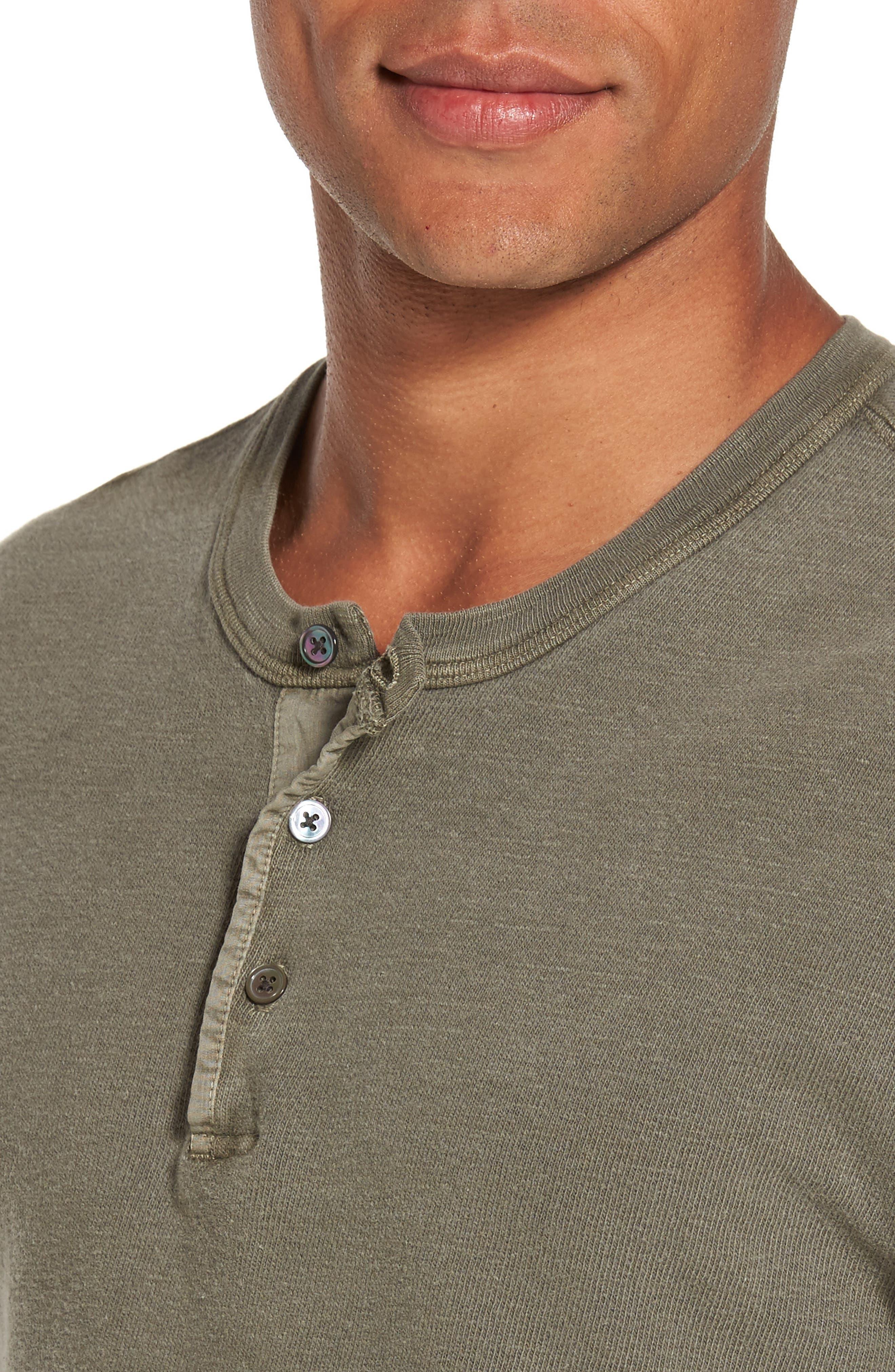Long Sleeve Henley T-Shirt,                             Alternate thumbnail 11, color,