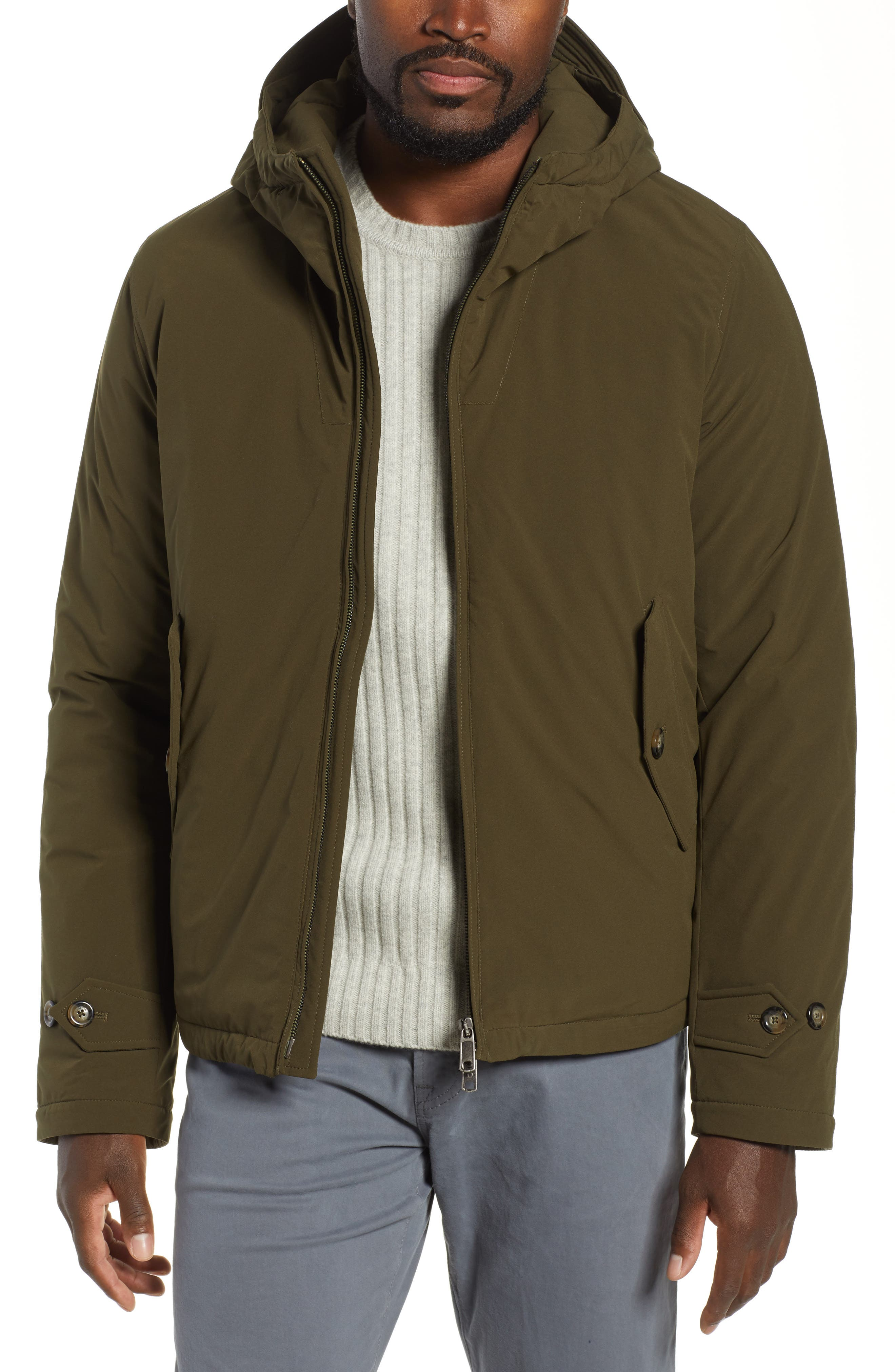 Hardy Stretch Water Repellent Anorak,                         Main,                         color, BEECH