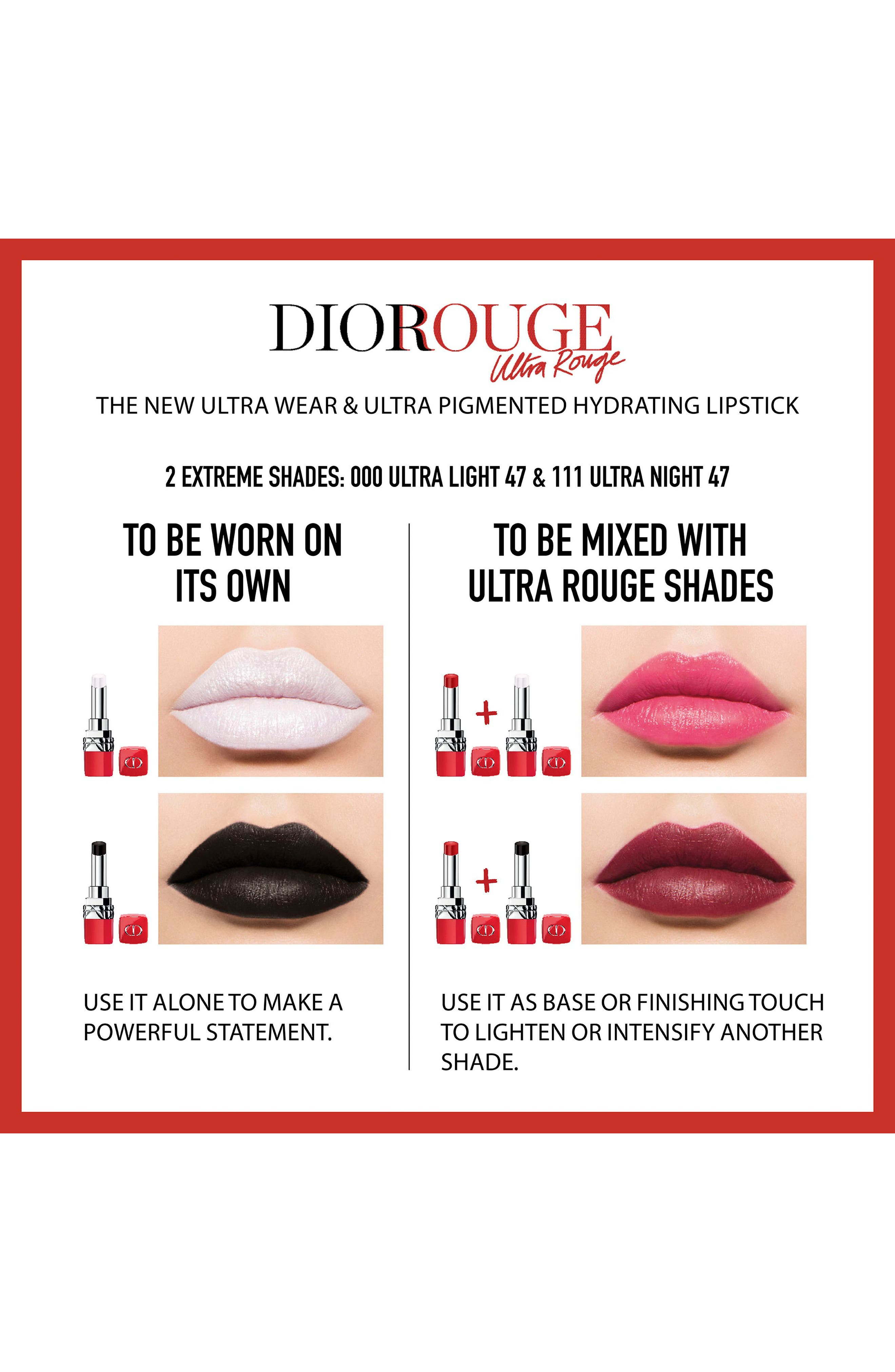 Rouge Dior Ultra Rouge Pigmented Hydra Lipstick,                             Alternate thumbnail 4, color,                             863 ULTRA FEMININE