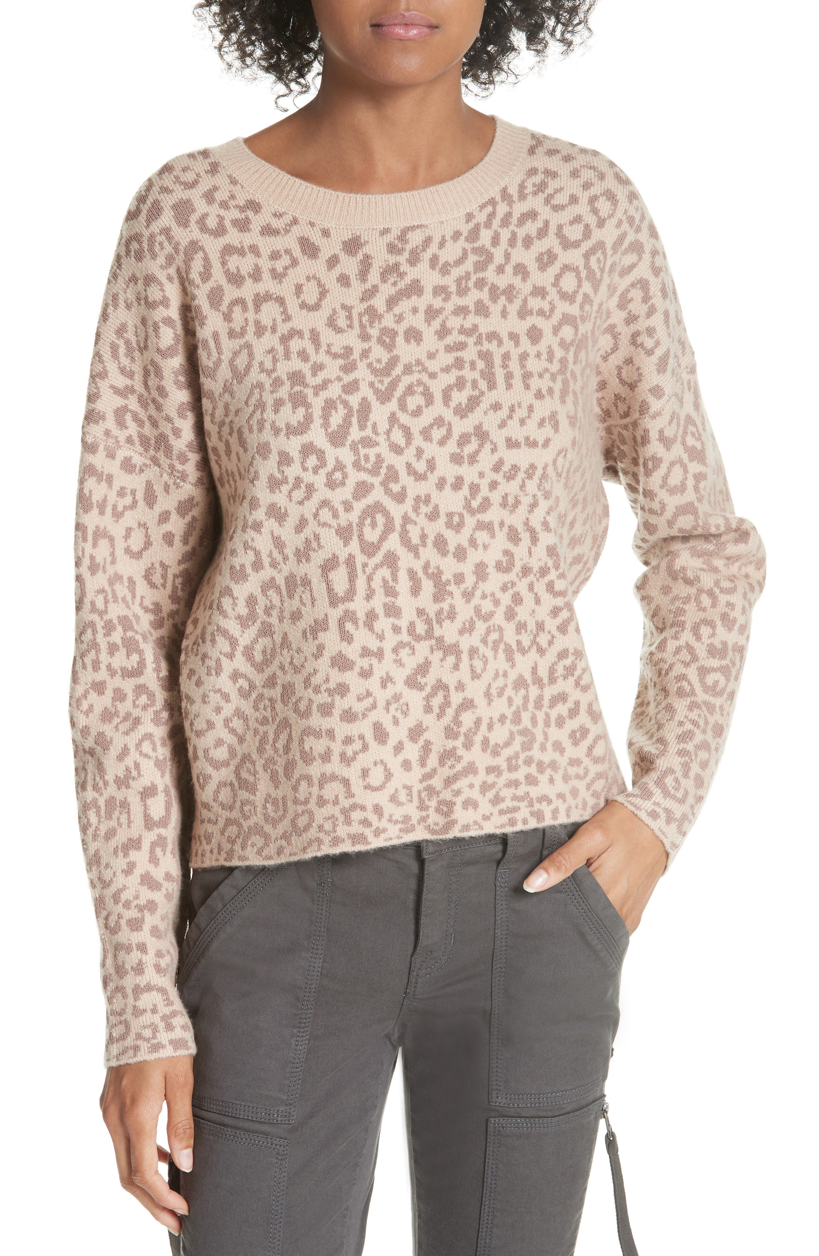 Leopard Print Sweater,                         Main,                         color, 250