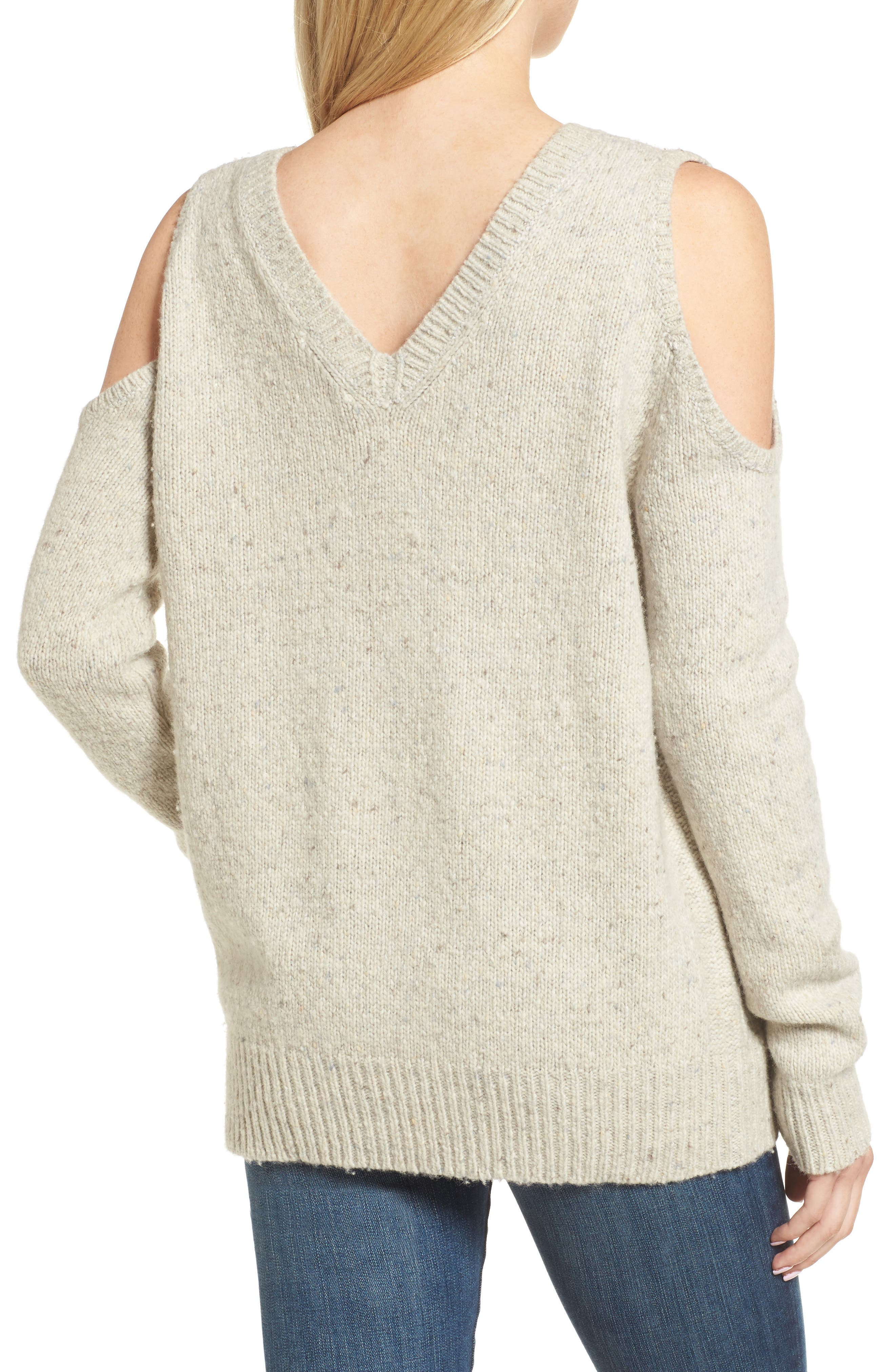 Page Cold Shoulder Sweater,                             Alternate thumbnail 14, color,