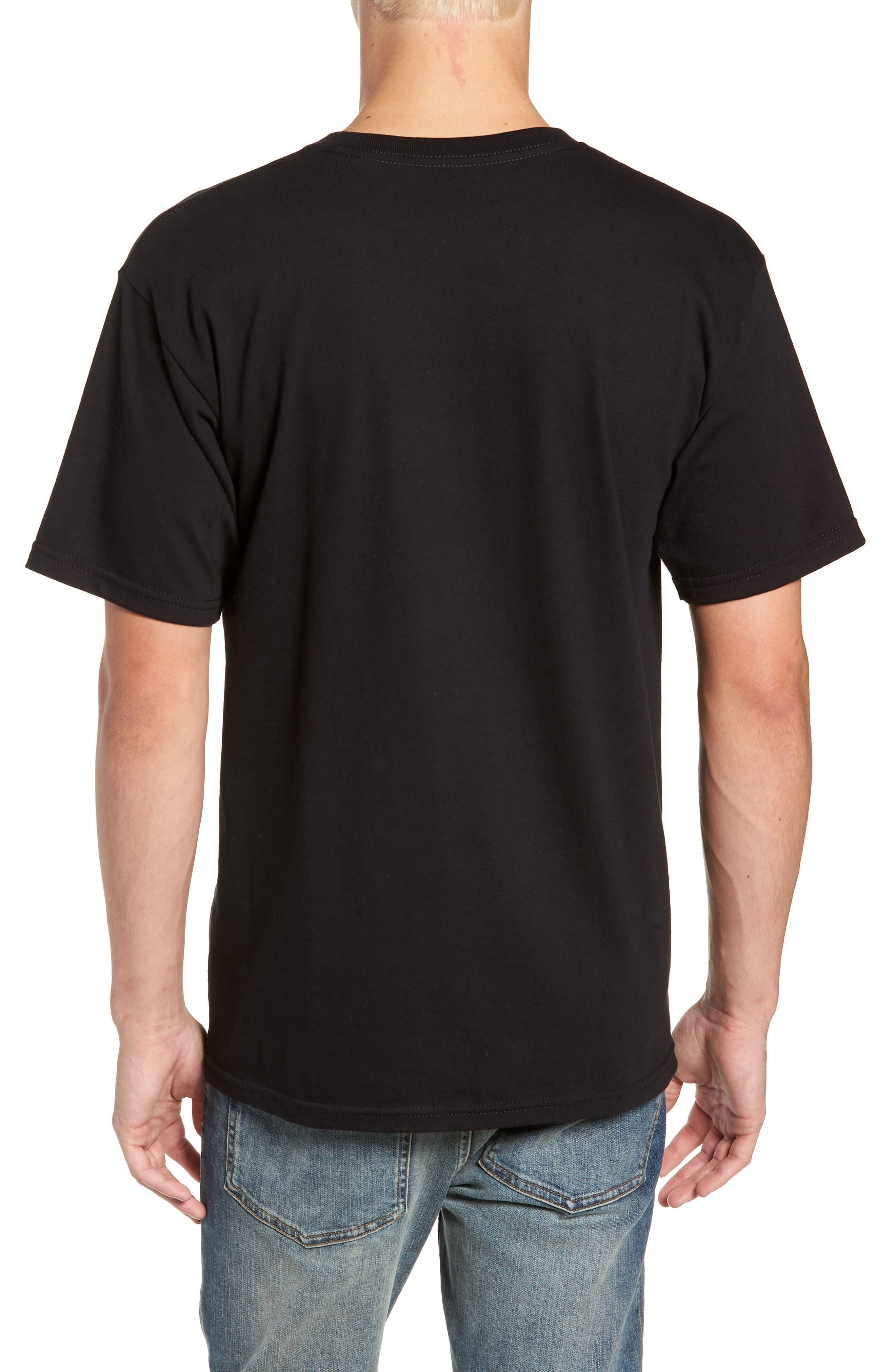 Taper Logo Graphic T-Shirt,                             Alternate thumbnail 2, color,                             BLACK