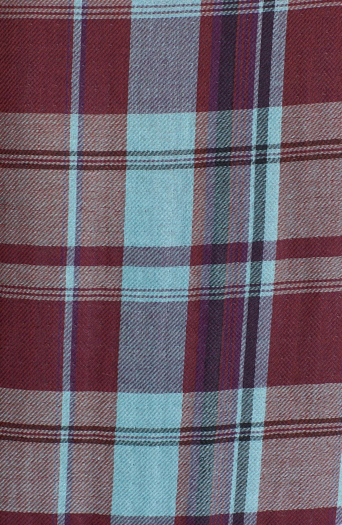 Denim 'Kadie' Plaid Shirt,                             Alternate thumbnail 2, color,                             600