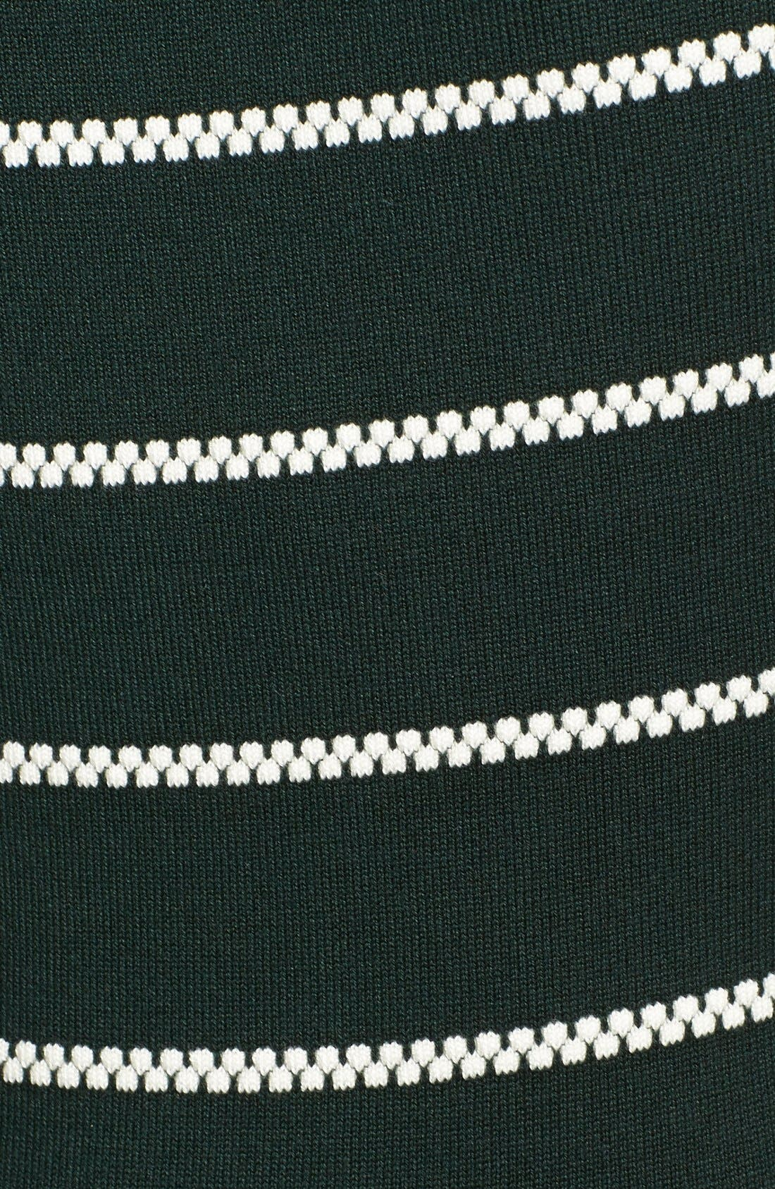Stripe Fit & Flare Sweater Dress,                             Alternate thumbnail 4, color,                             310