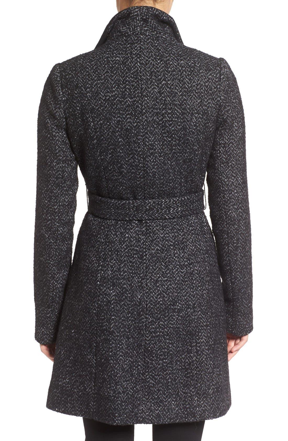 'Eva' Belted Tweed Jacket,                             Alternate thumbnail 2, color,                             008