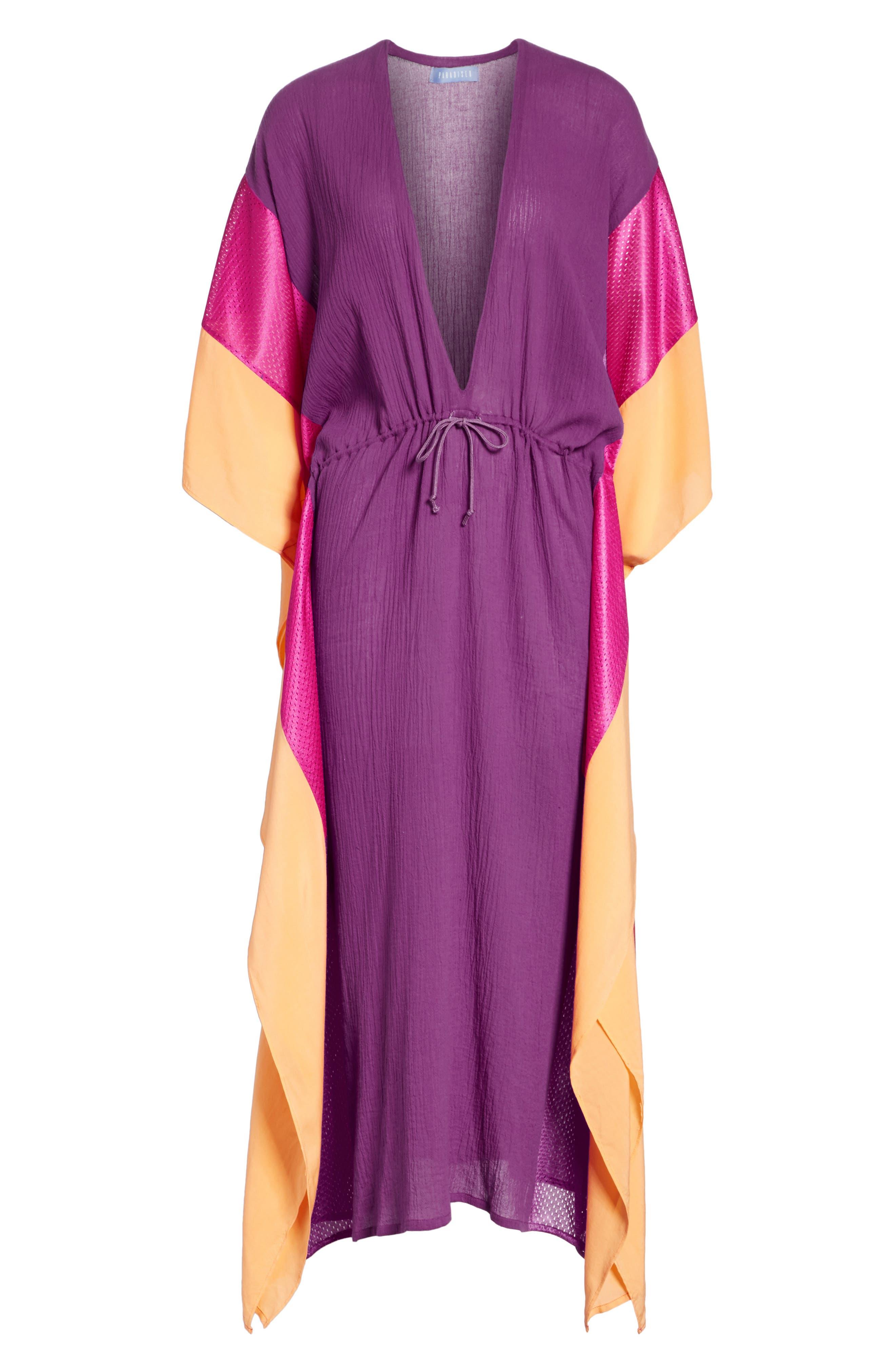 Sun Dance Caftan Dress,                             Alternate thumbnail 7, color,                             650