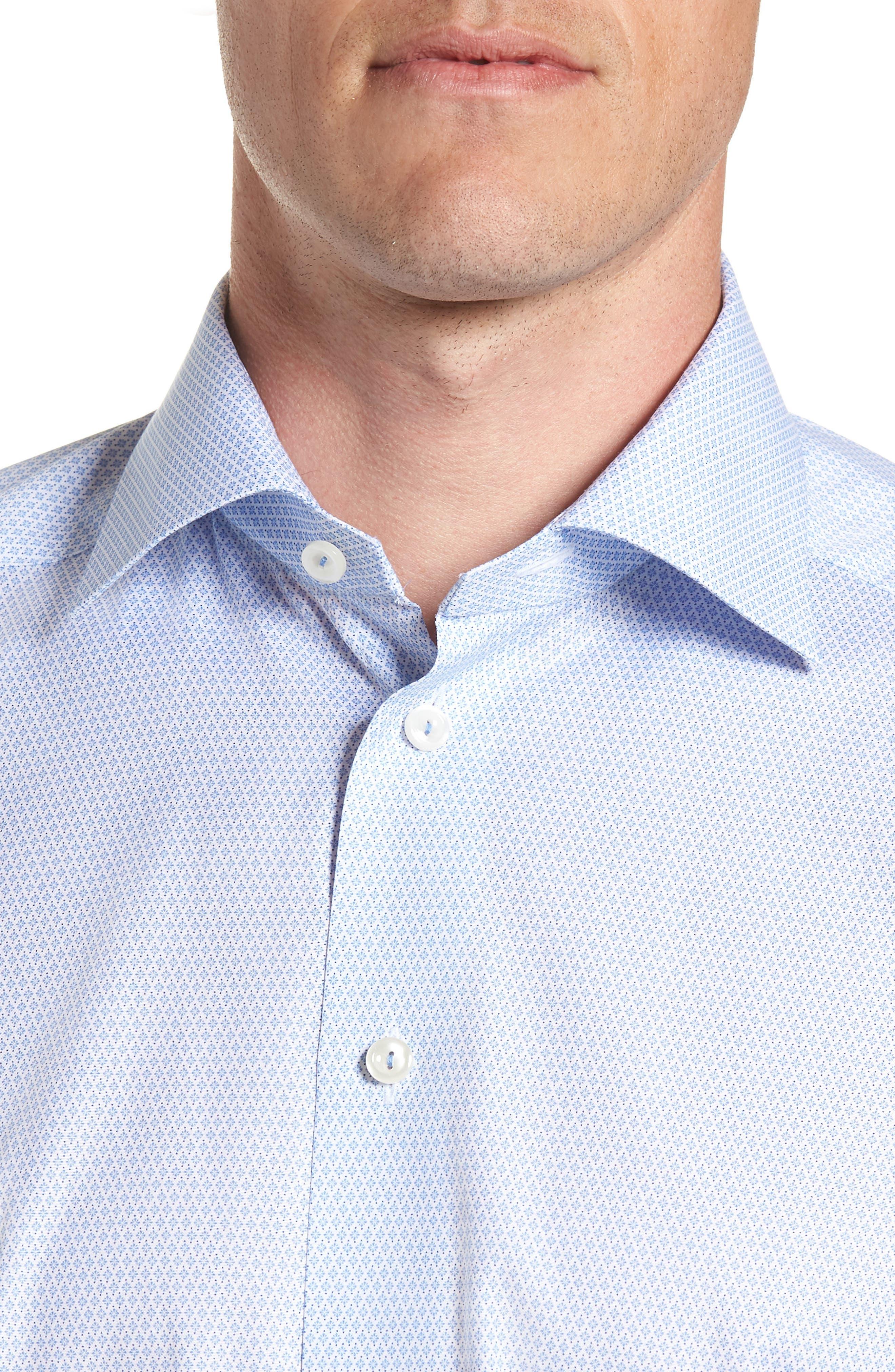 Contemporary Fit Print Dress Shirt,                             Alternate thumbnail 2, color,                             BLUE