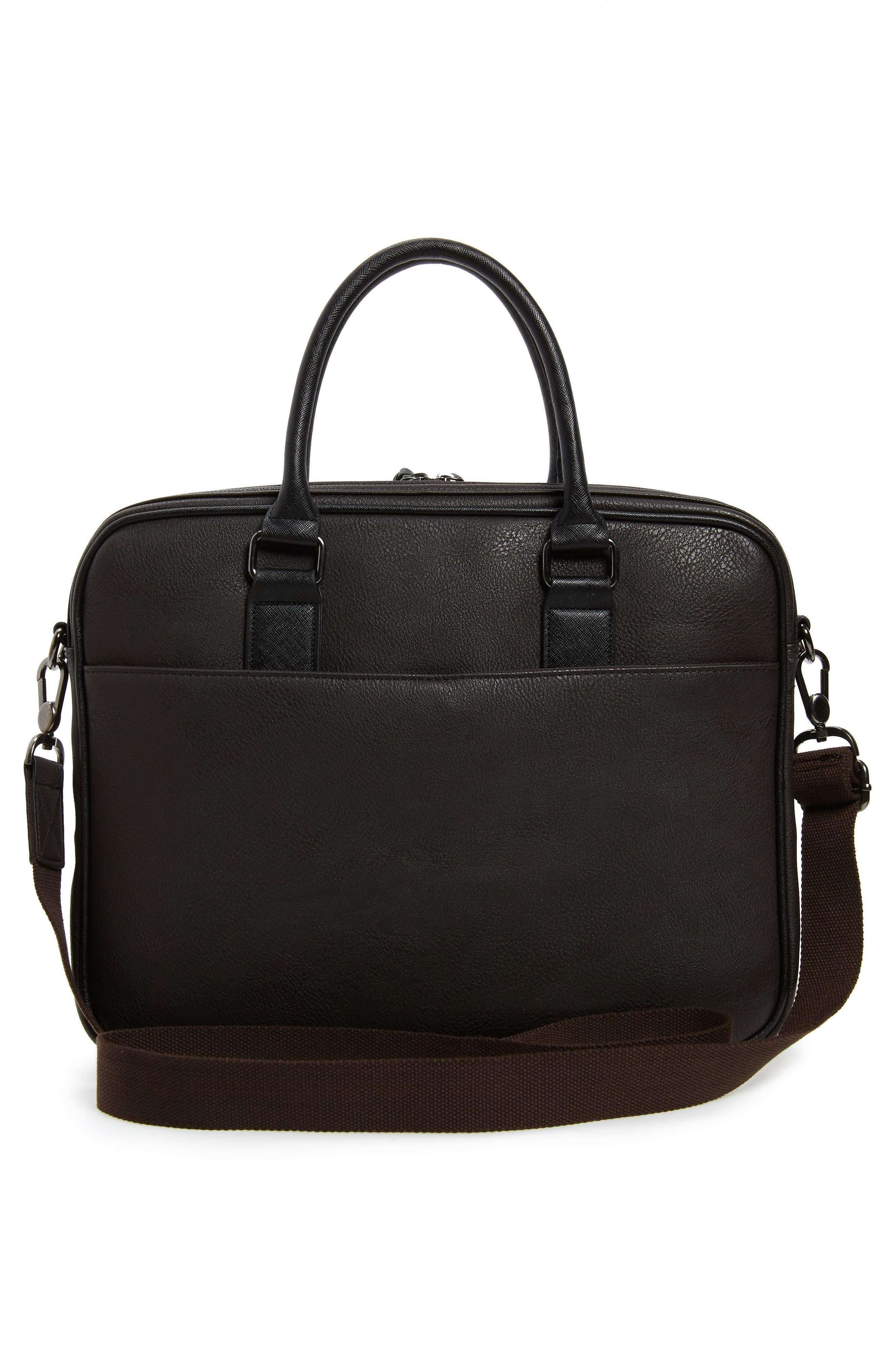 TED BAKER LONDON,                             Merman Faux Leather Briefcase,                             Alternate thumbnail 3, color,                             211