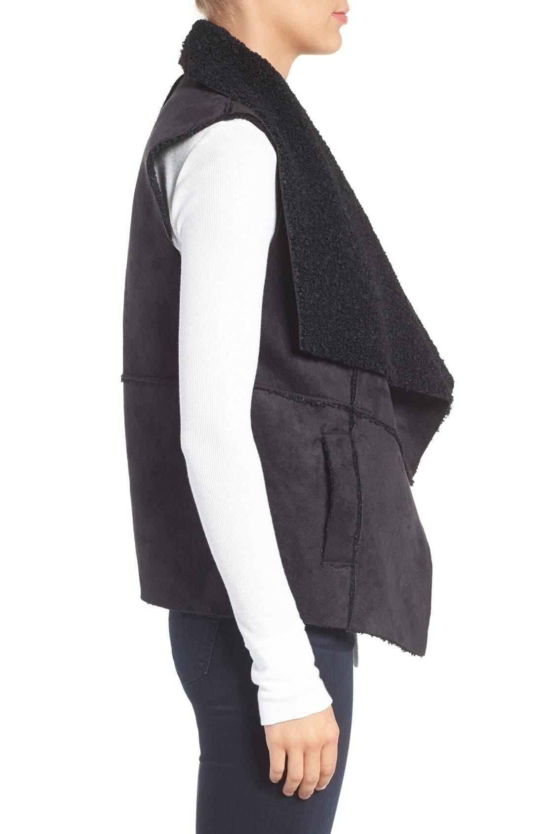 Goslett Faux Shearling Vest,                             Alternate thumbnail 3, color,                             001