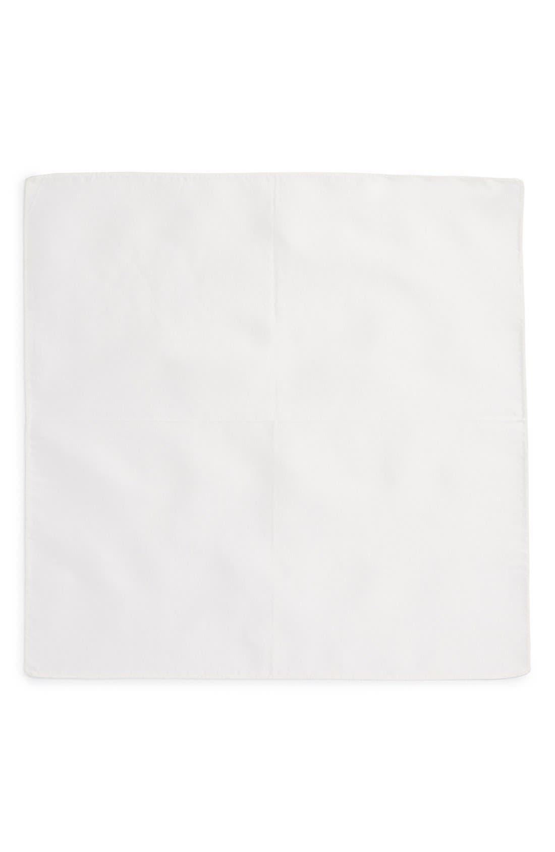 Solid Silk Pocket Square,                             Alternate thumbnail 2, color,