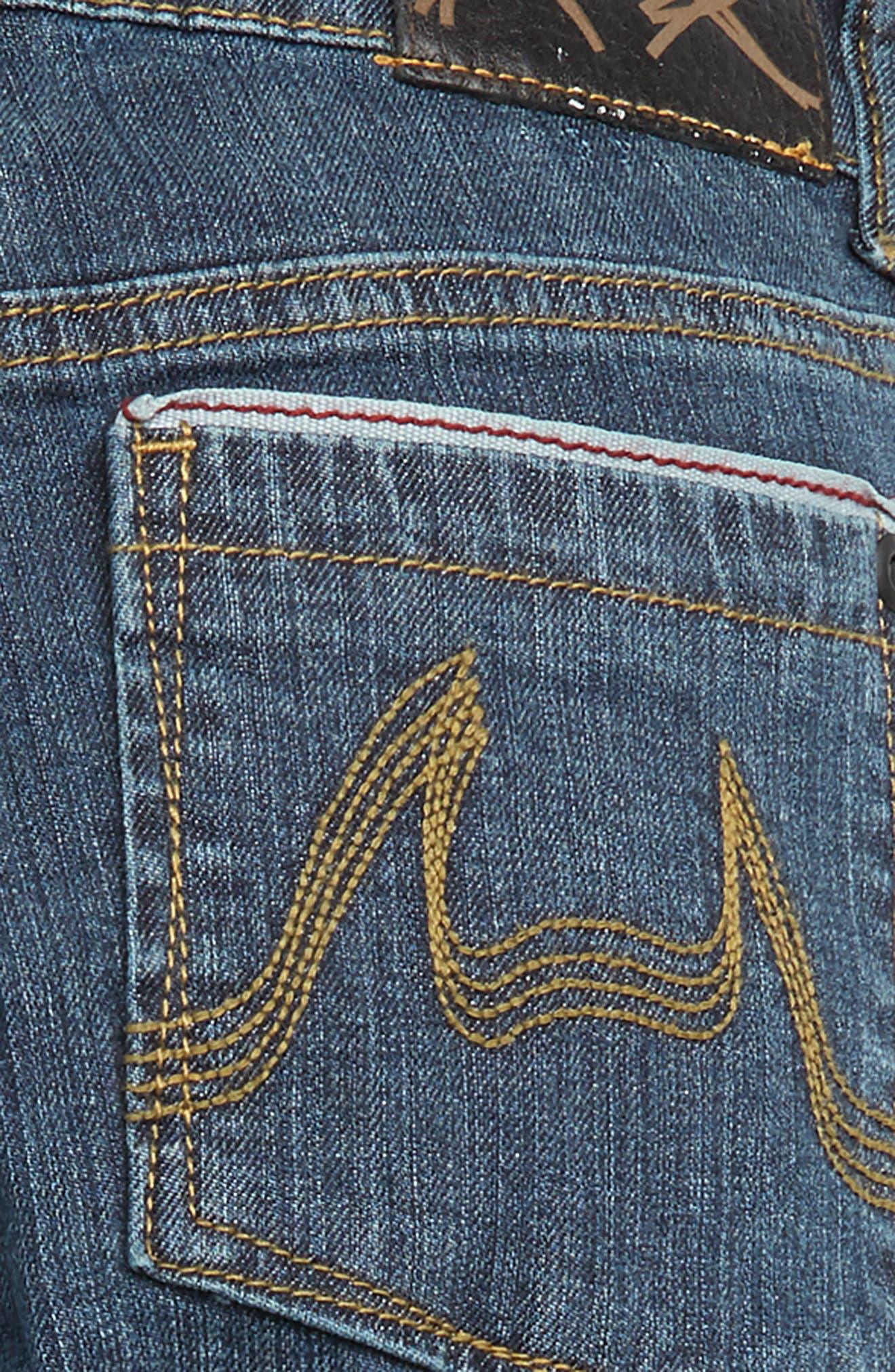Slim Stovey Jeans,                             Alternate thumbnail 3, color,                             BEATEN INDIGO