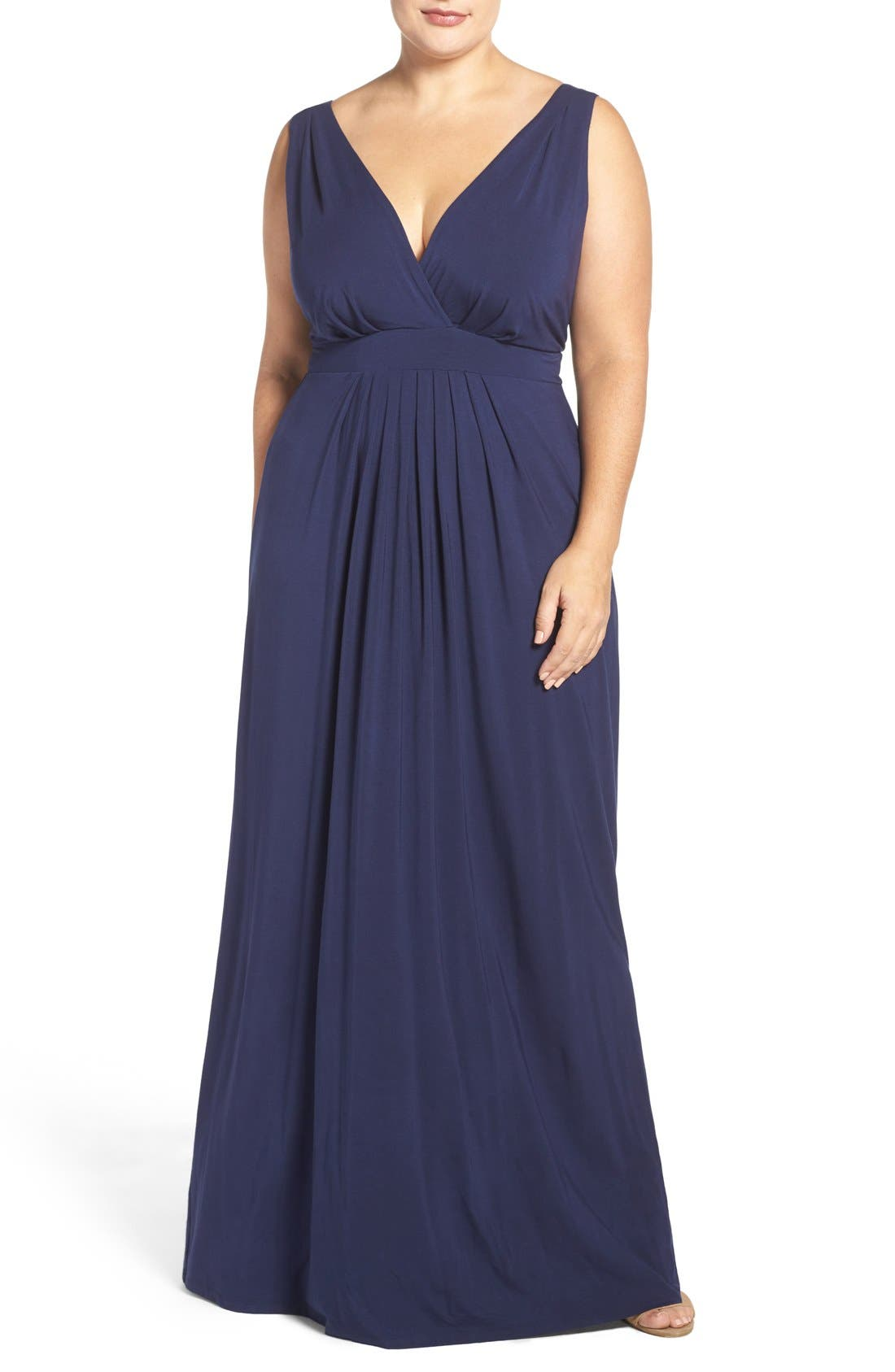 Chloe Empire Waist Maxi Dress,                             Main thumbnail 12, color,