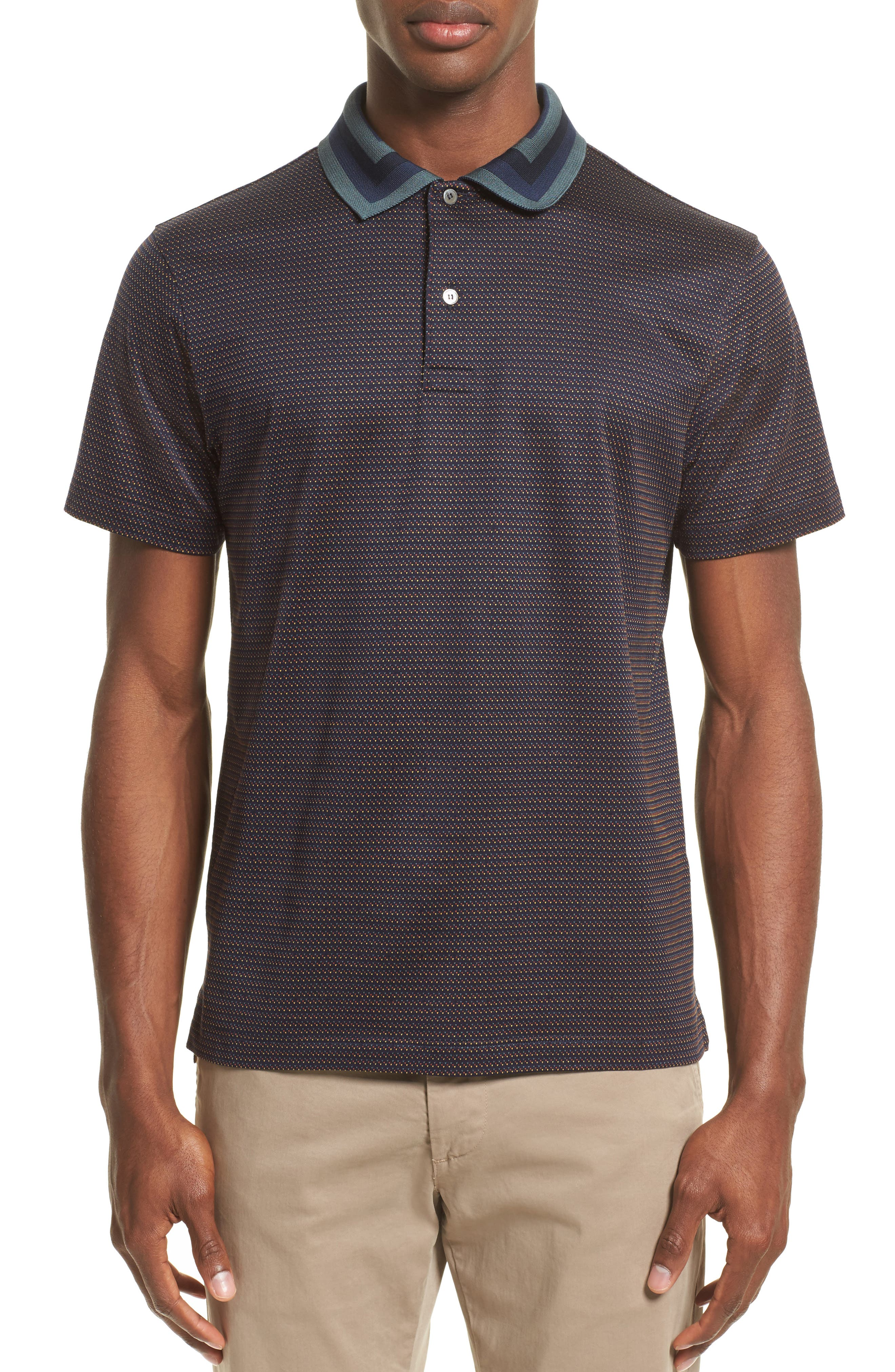 Micro Dot Polo,                         Main,                         color, 410