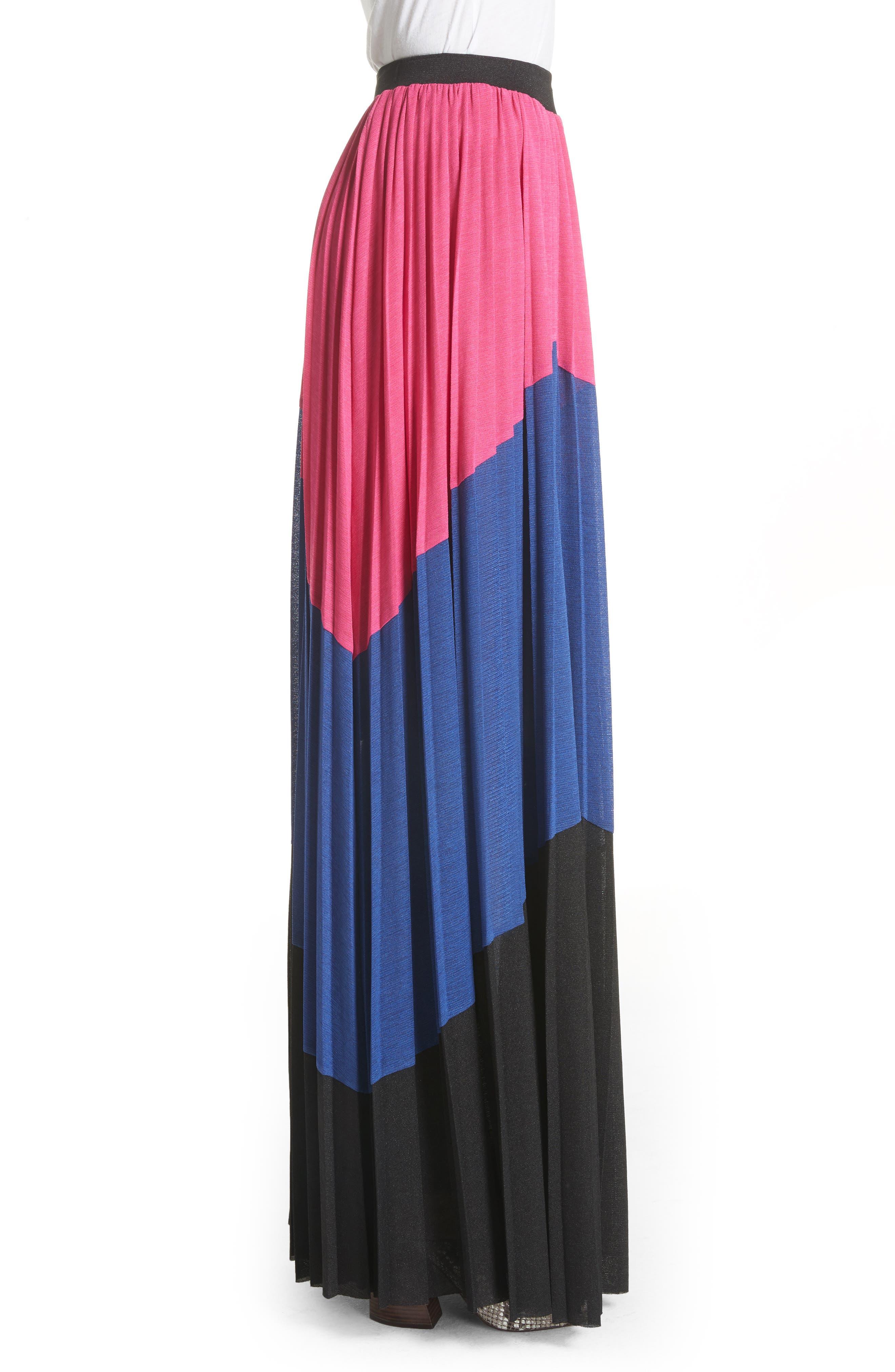 Colorblock Maxi Skirt,                             Alternate thumbnail 3, color,