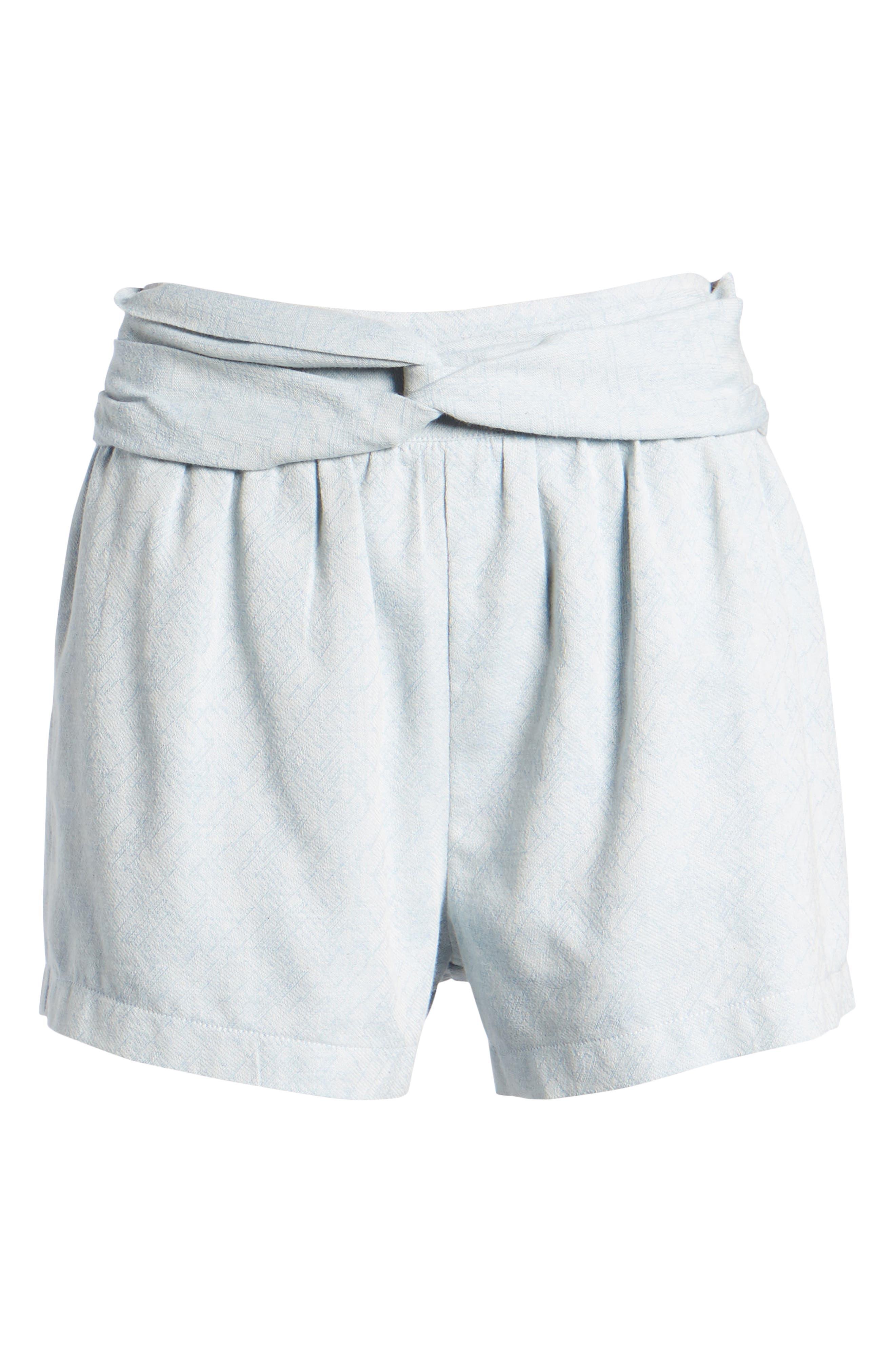 Knotted Jacquard Shorts,                             Alternate thumbnail 6, color,