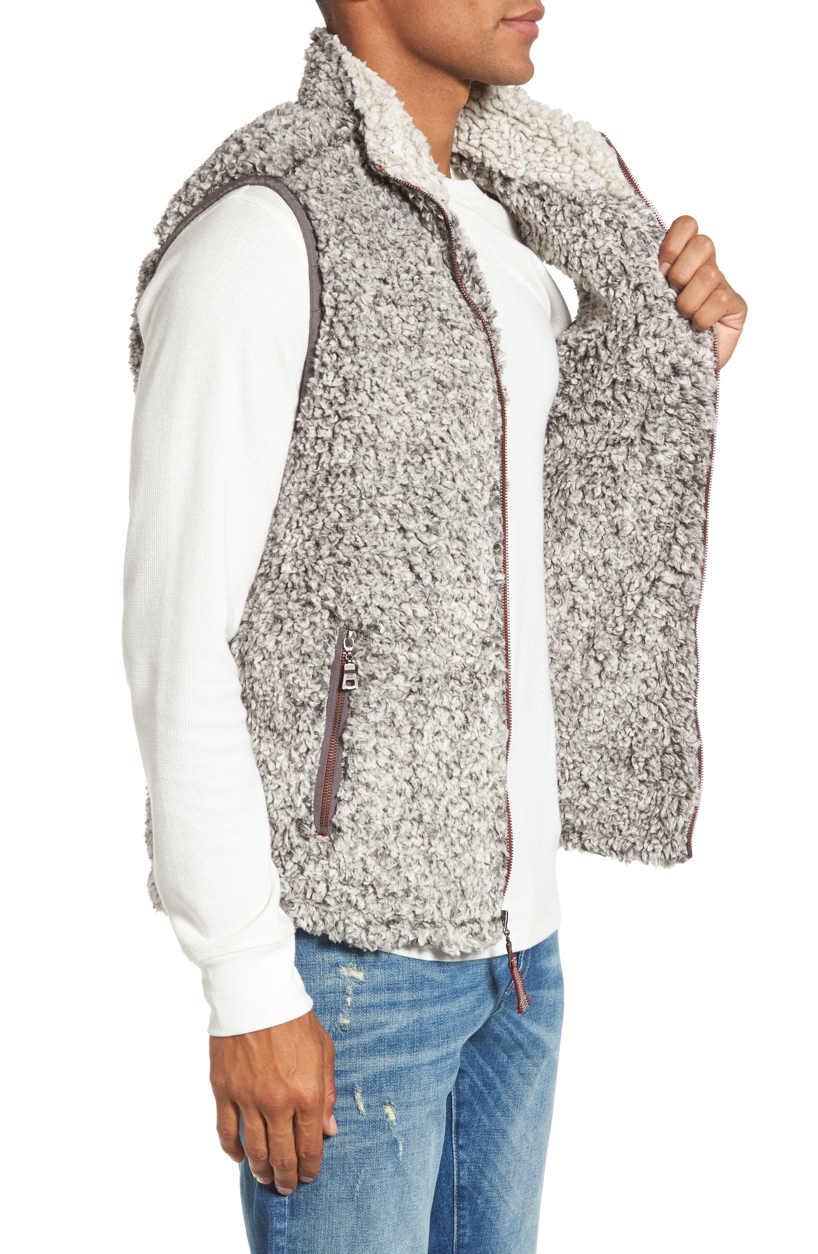 Double Up Frosty Tipped Faux Fur Vest,                             Alternate thumbnail 3, color,                             020