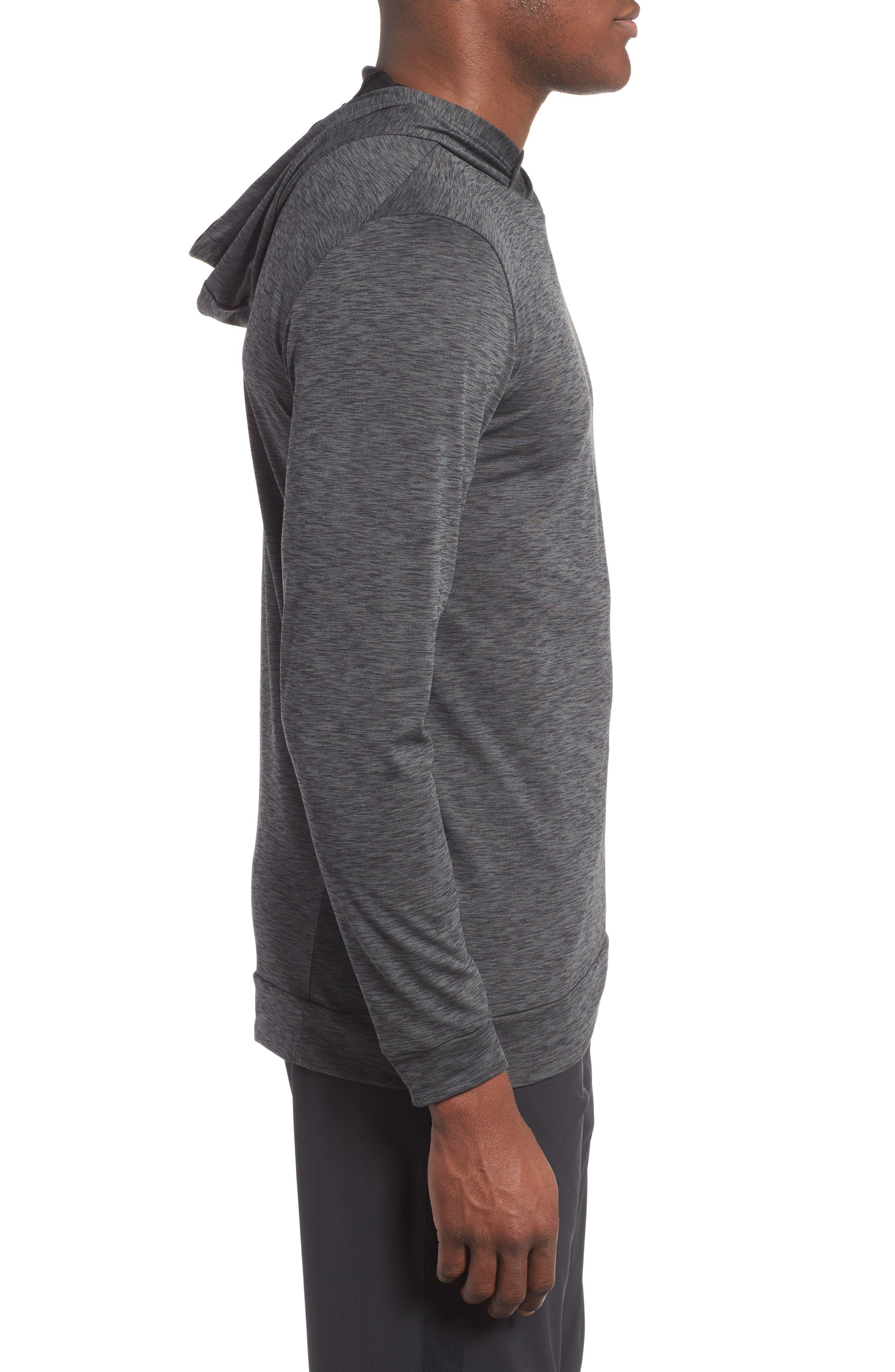 Hyper Dry Regular Fit Training Hoodie,                             Alternate thumbnail 3, color,                             ANTHRACITE/BLACK/BLACK