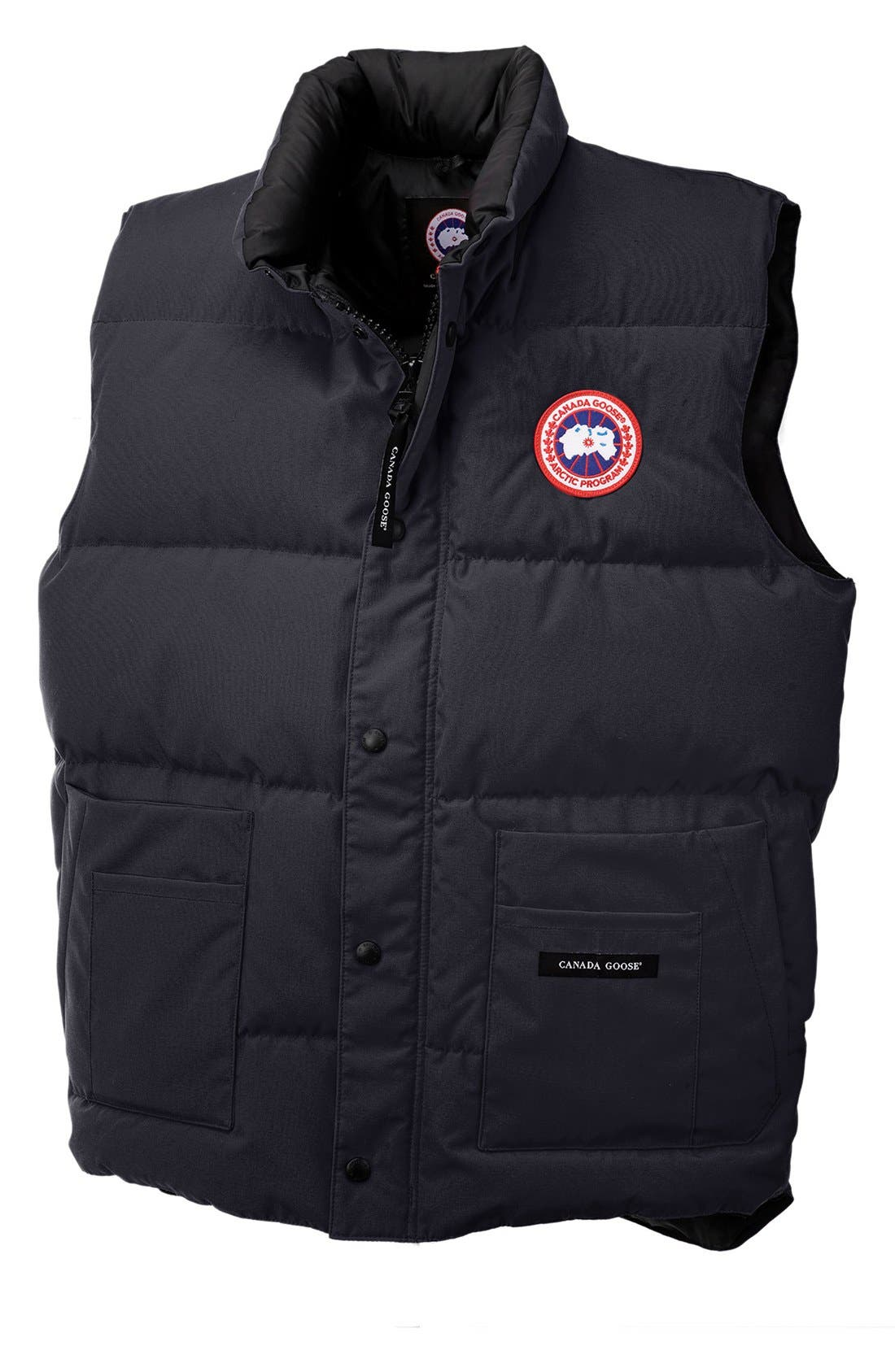 'Freestyle' Water Resistant Regular Fit Down Vest,                             Alternate thumbnail 3, color,                             NAVY
