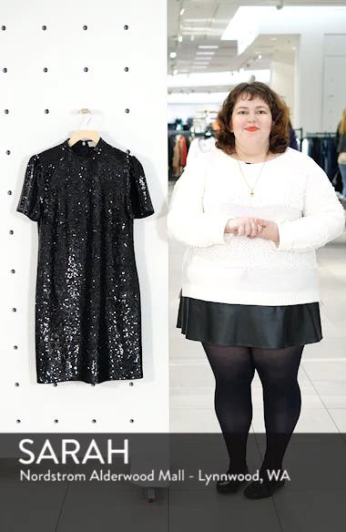 Mock Neck Sequin Minidress, sales video thumbnail