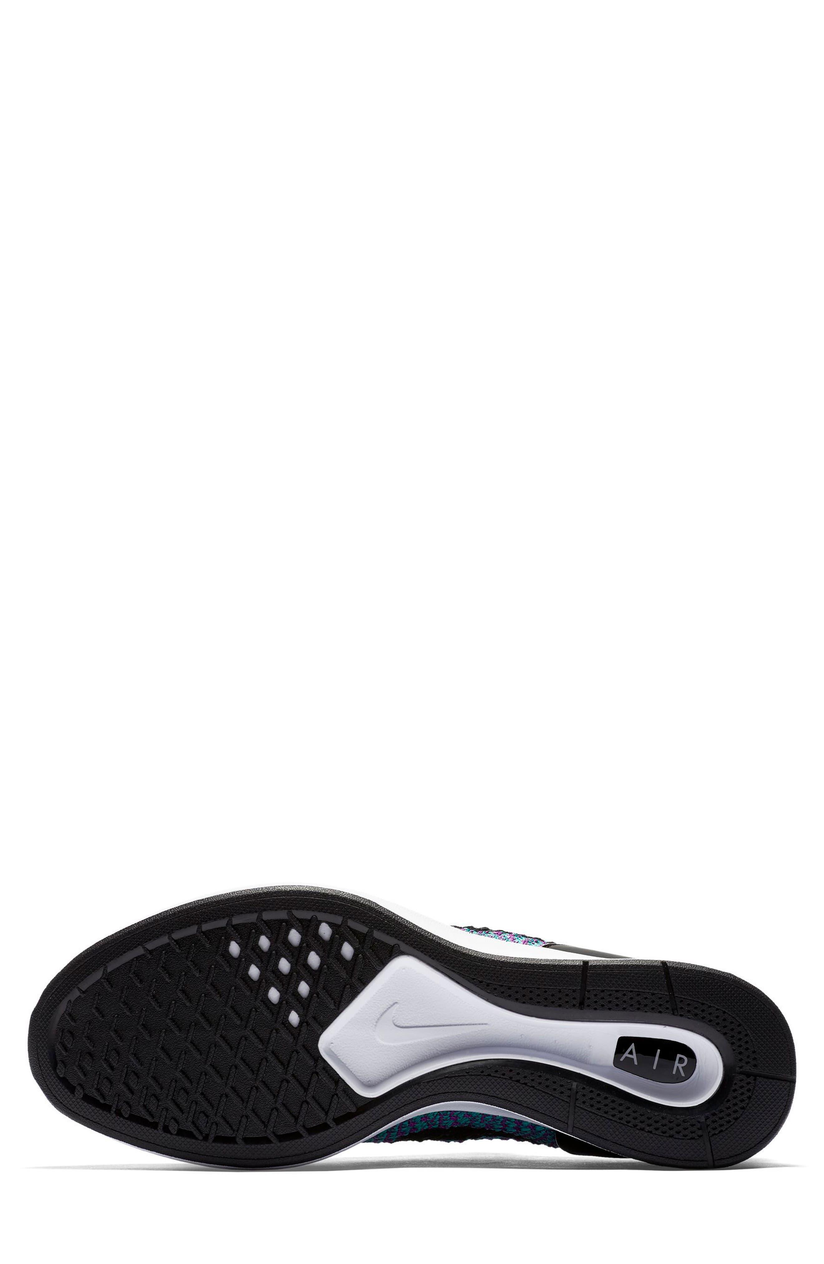 Air Zoom Mariah Flyknit Racer Sneaker,                             Alternate thumbnail 5, color,                             CLEAR JADE/ BLACK