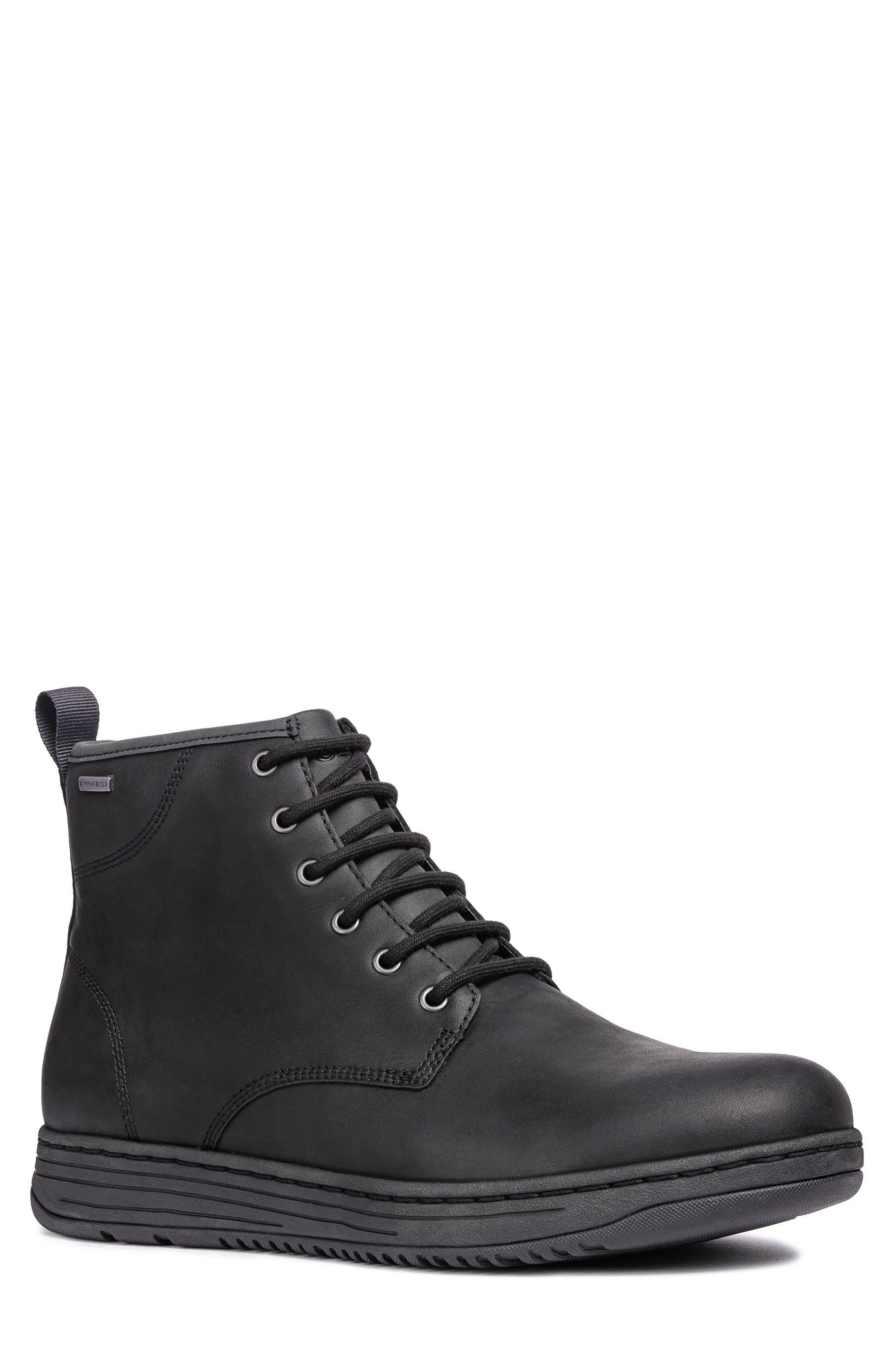 Abroad ABX 2 Tall Lace-Up Boot,                             Main thumbnail 1, color,                             BLACK