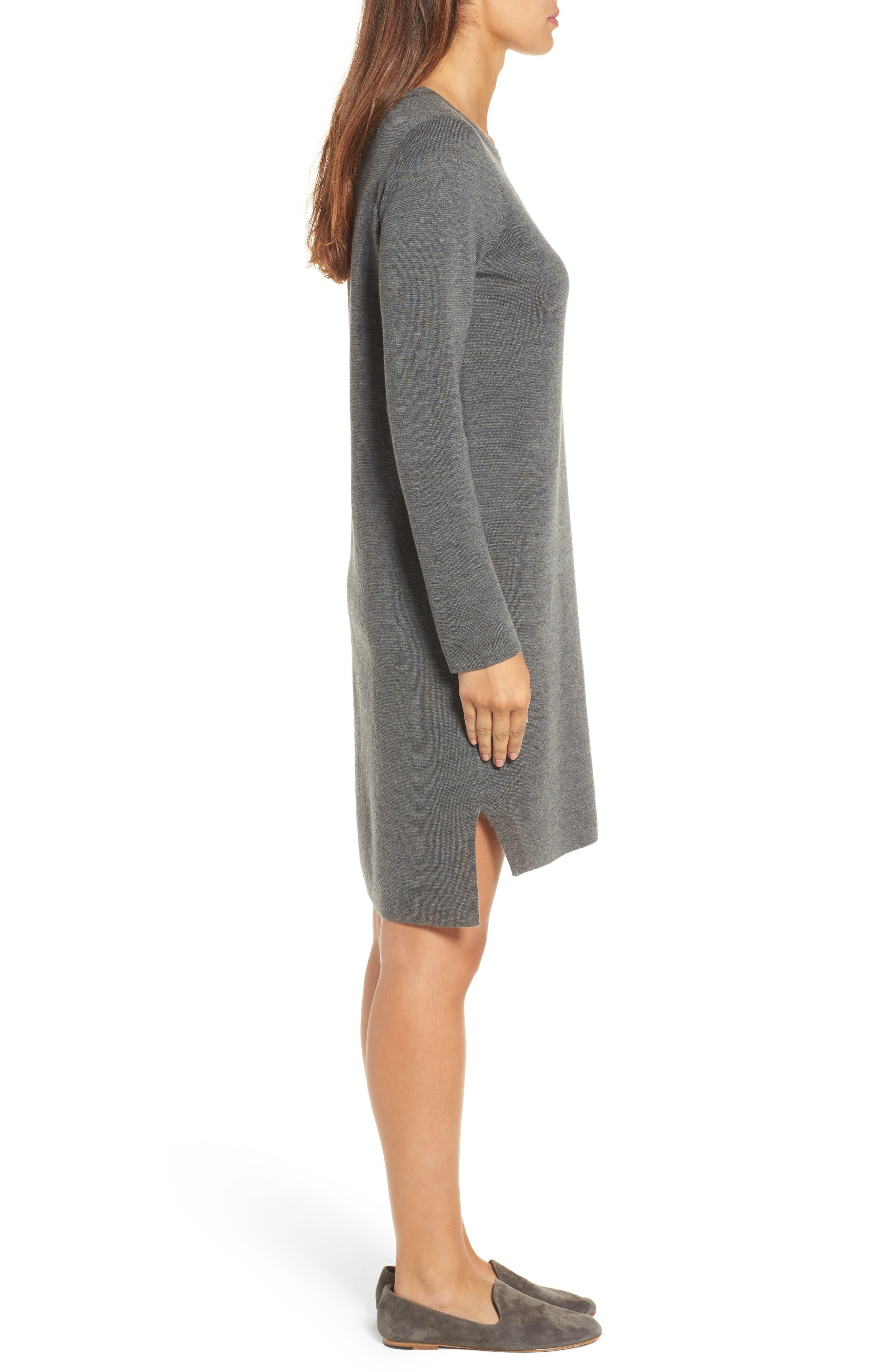 Merino Wool Sweater Dress,                             Alternate thumbnail 11, color,