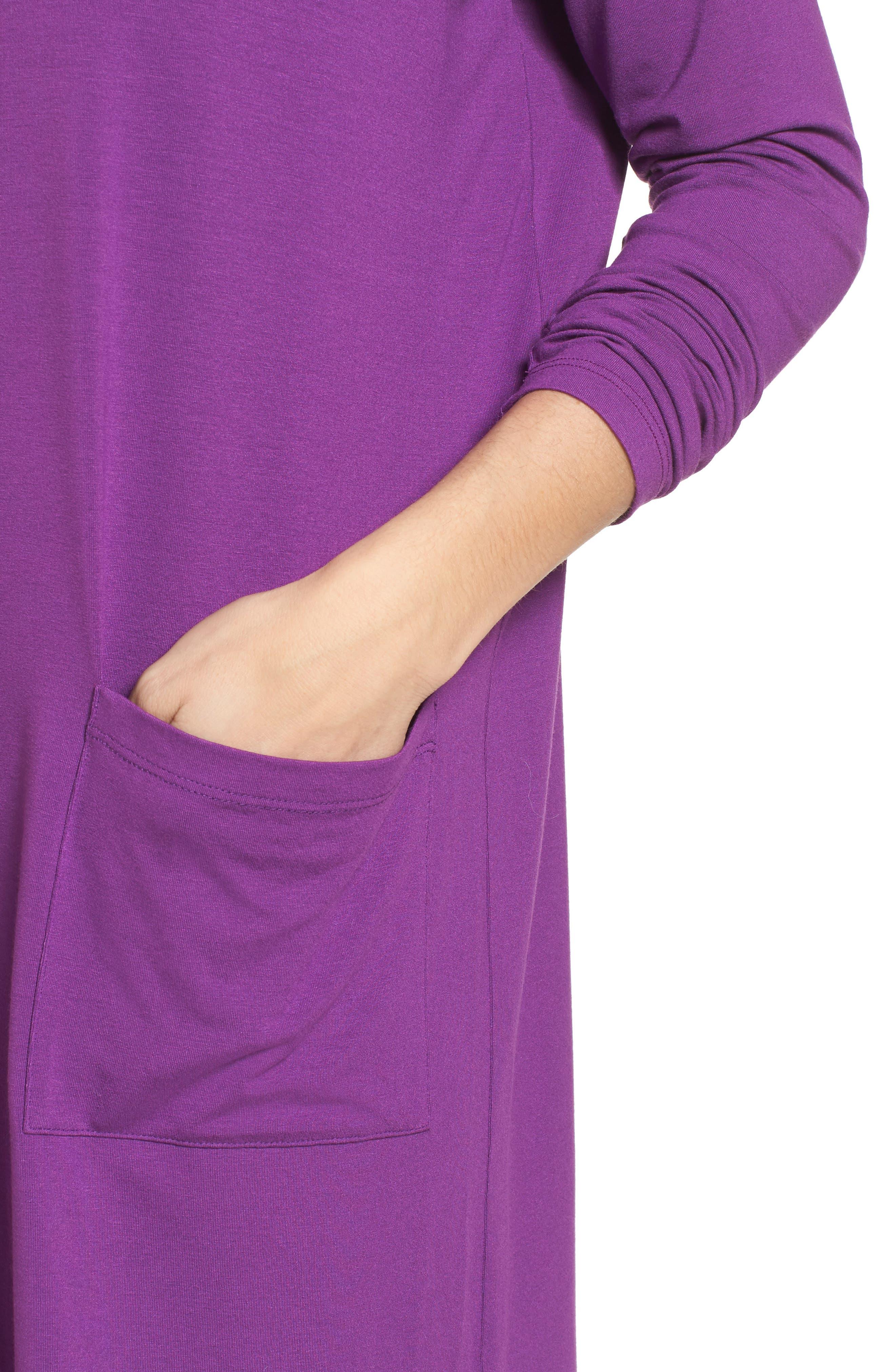 Jersey Ballet Neck Shift Dress,                             Alternate thumbnail 40, color,