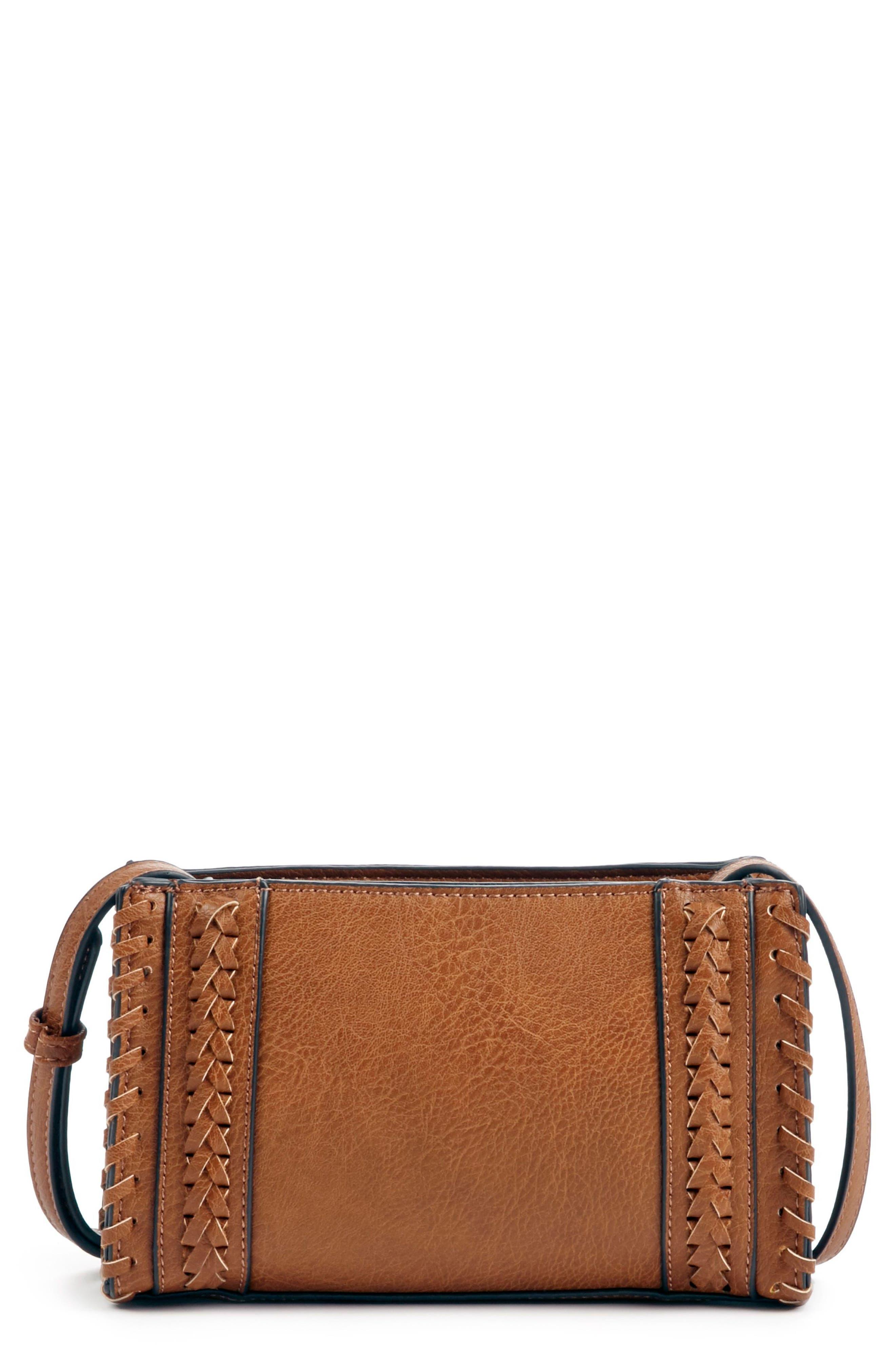 SOLE SOCIETY Destin Faux Leather Crossbody Bag, Main, color, 230