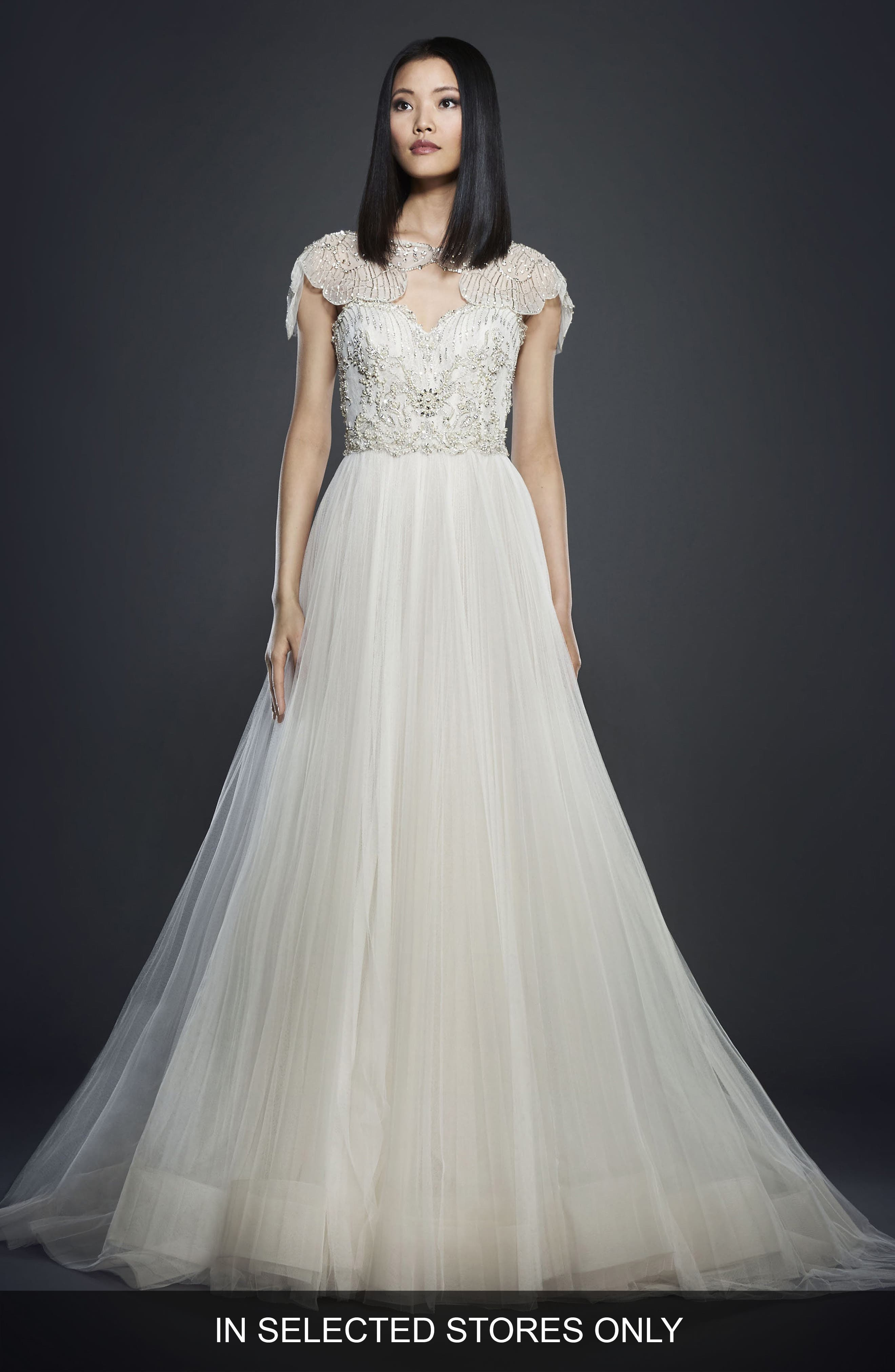 Embellished Bodice Ballgown,                             Main thumbnail 1, color,                             IVORY