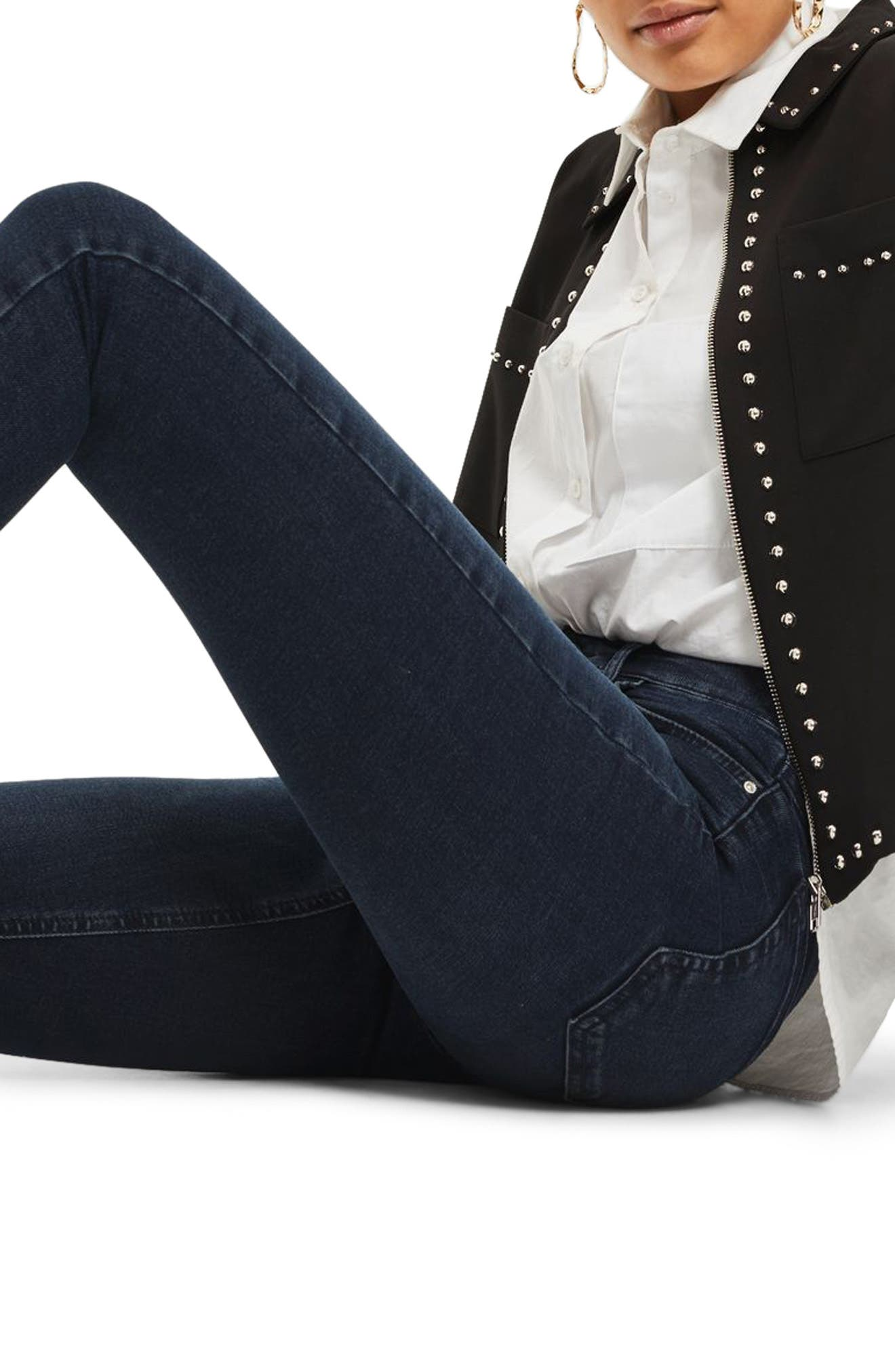 Jamie Crop Skinny Jeans,                             Alternate thumbnail 3, color,                             401