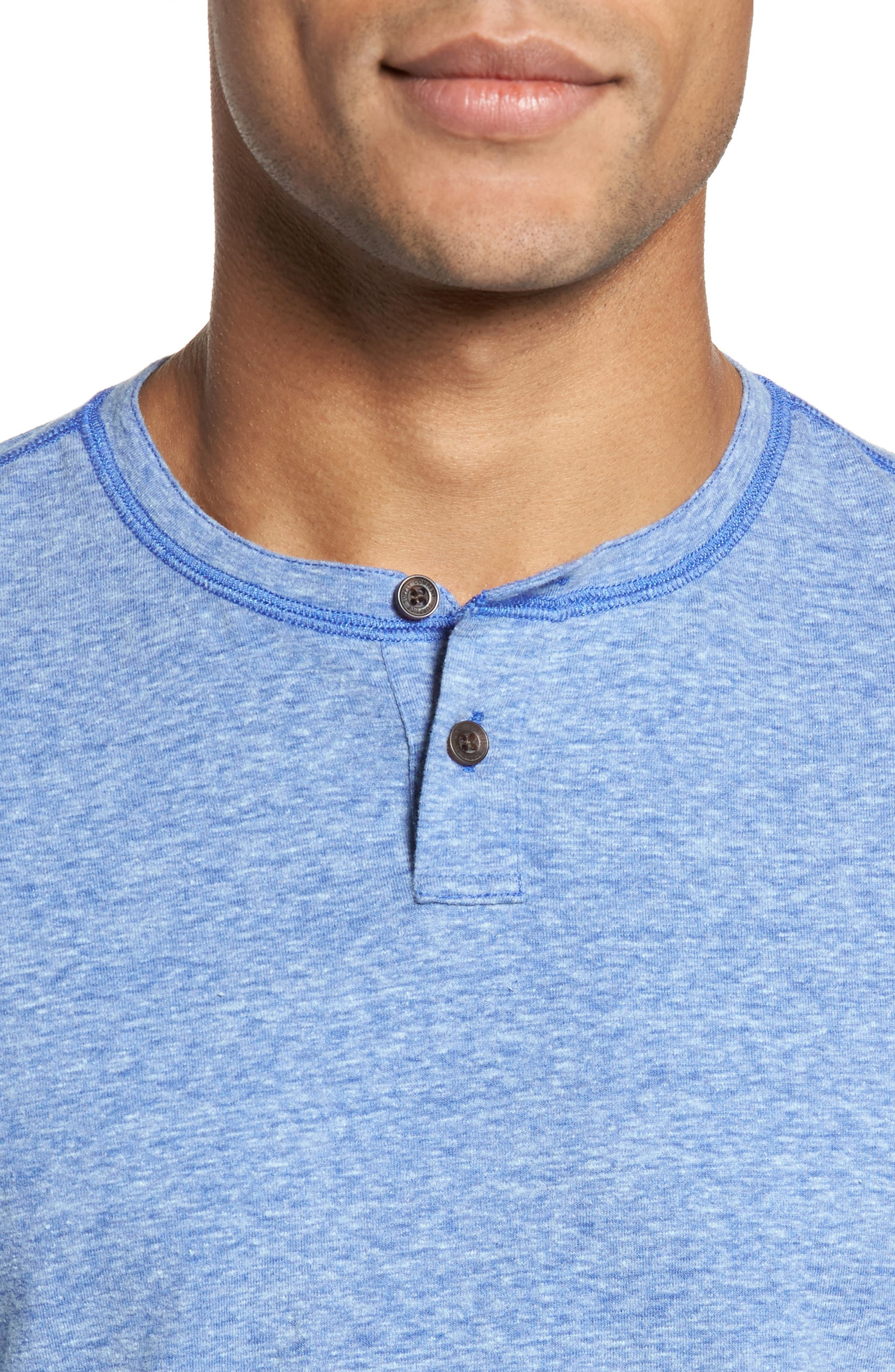 Heathered Short Sleeve Henley,                             Alternate thumbnail 4, color,                             431