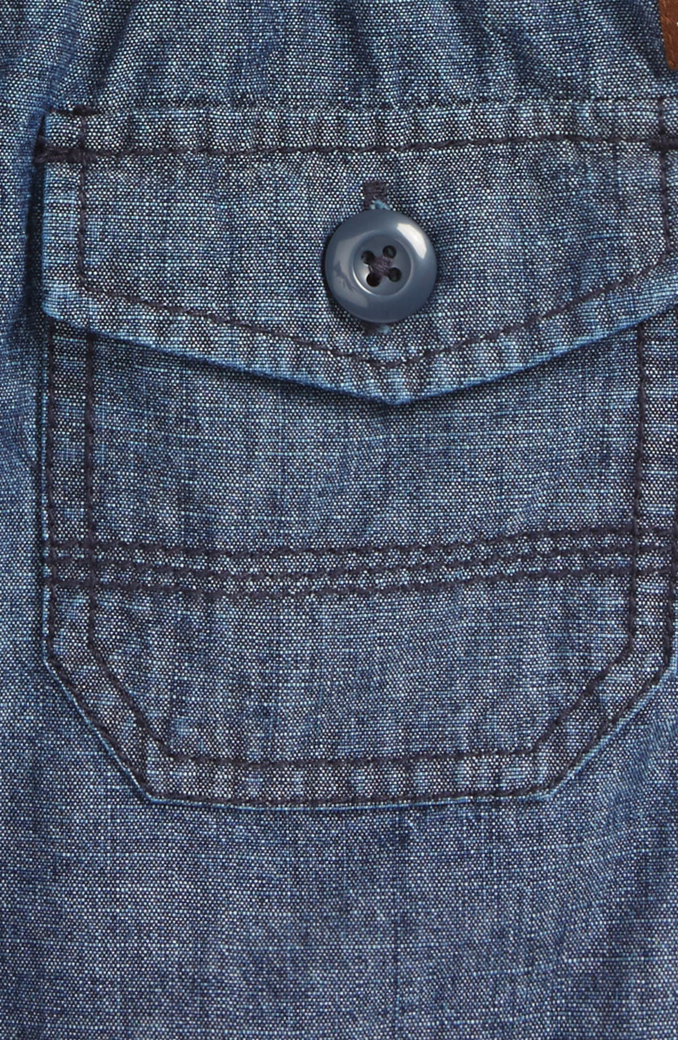 Easy Does It Chambray Shorts,                             Alternate thumbnail 3, color,                             410