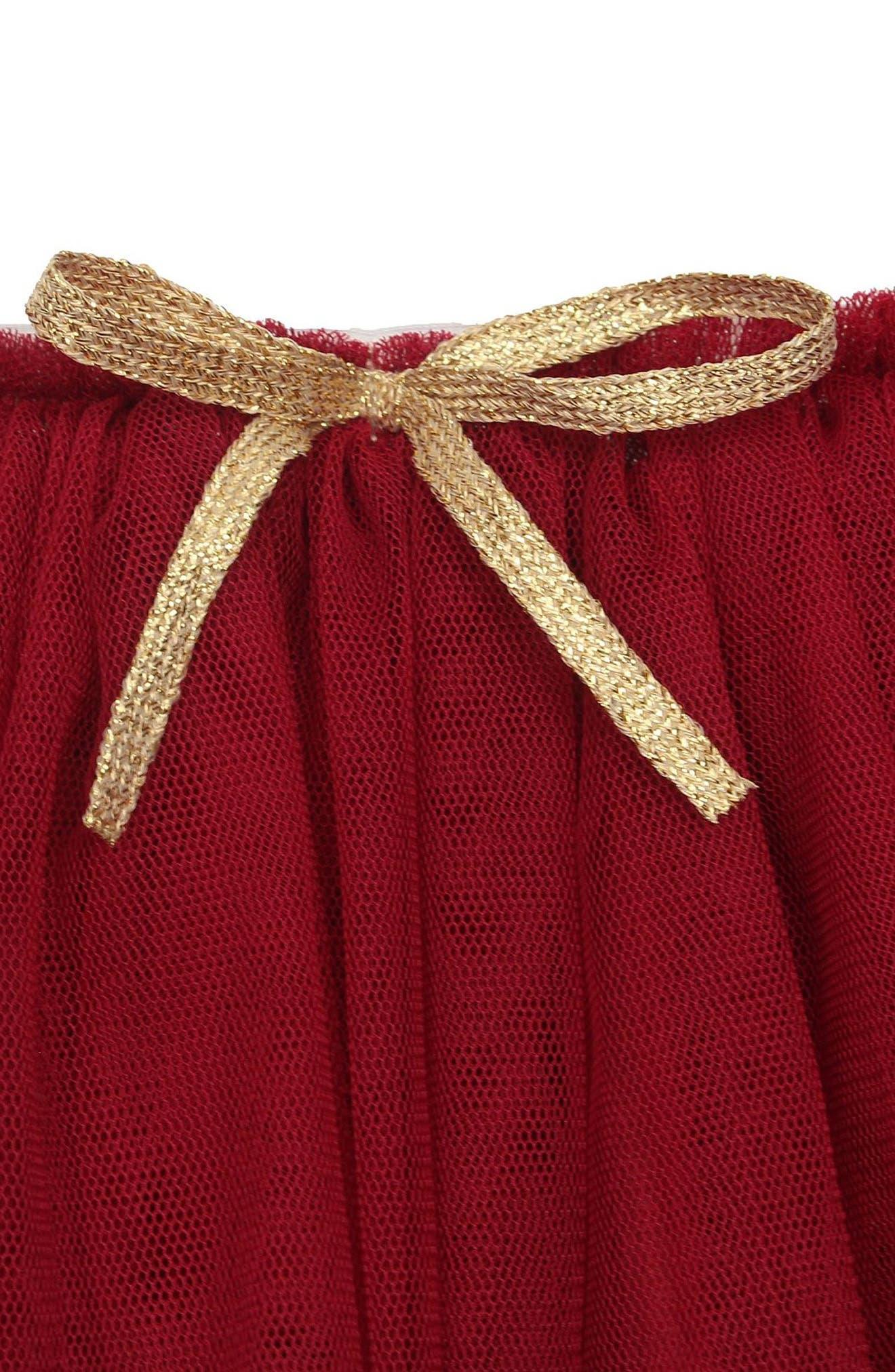 Tutu Skirt,                             Alternate thumbnail 2, color,                             BURGUNDY