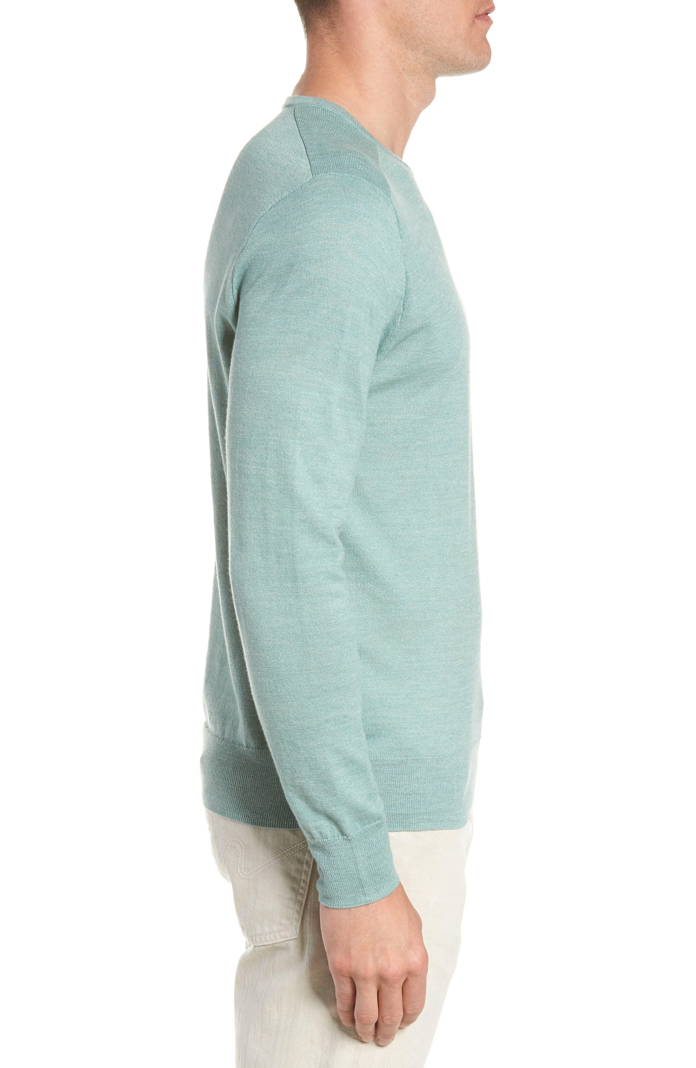 Cotton Blend Crewneck Sweater,                             Alternate thumbnail 10, color,