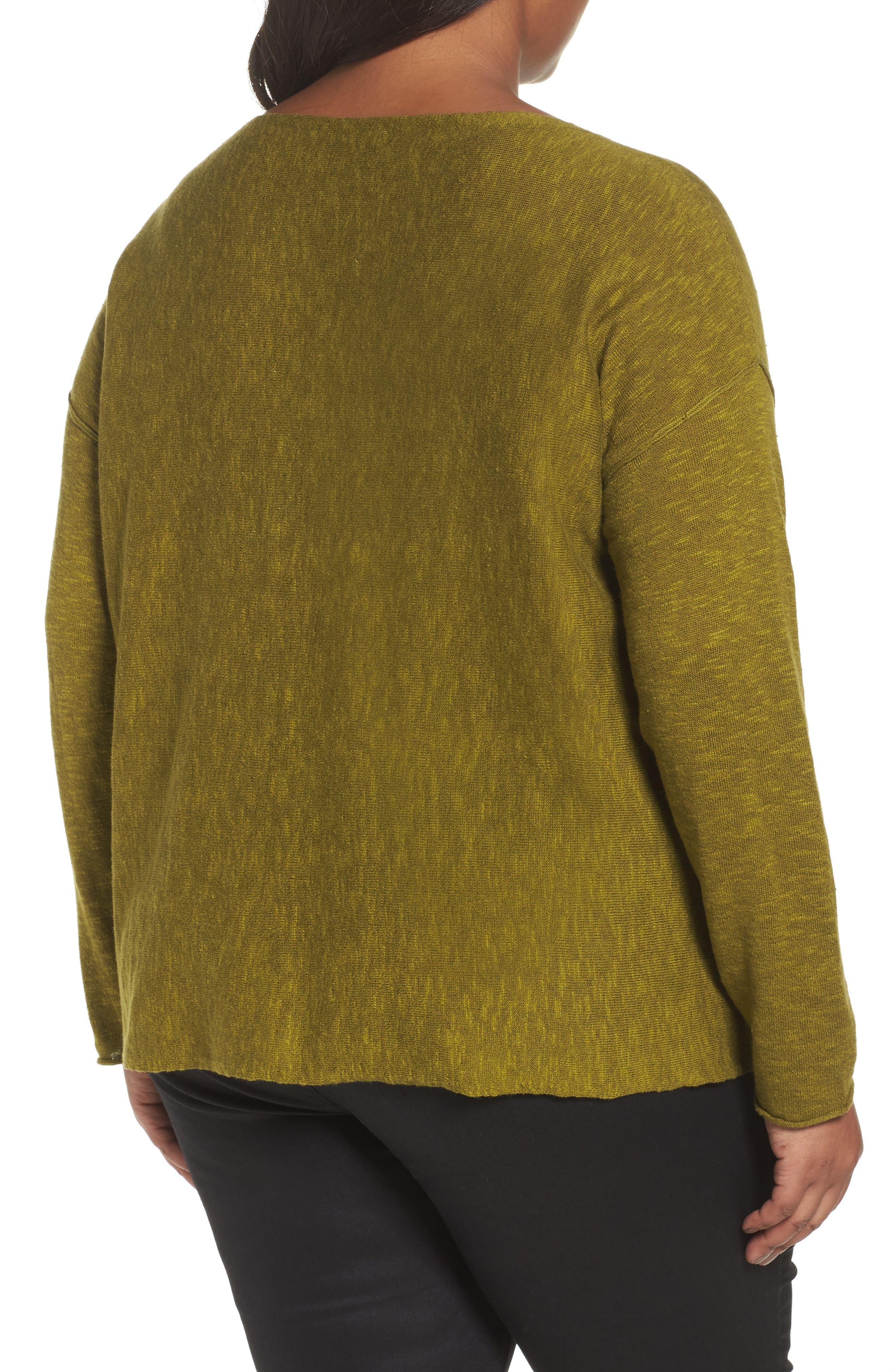 Organic Linen & Cotton Sweater,                             Alternate thumbnail 2, color,                             201