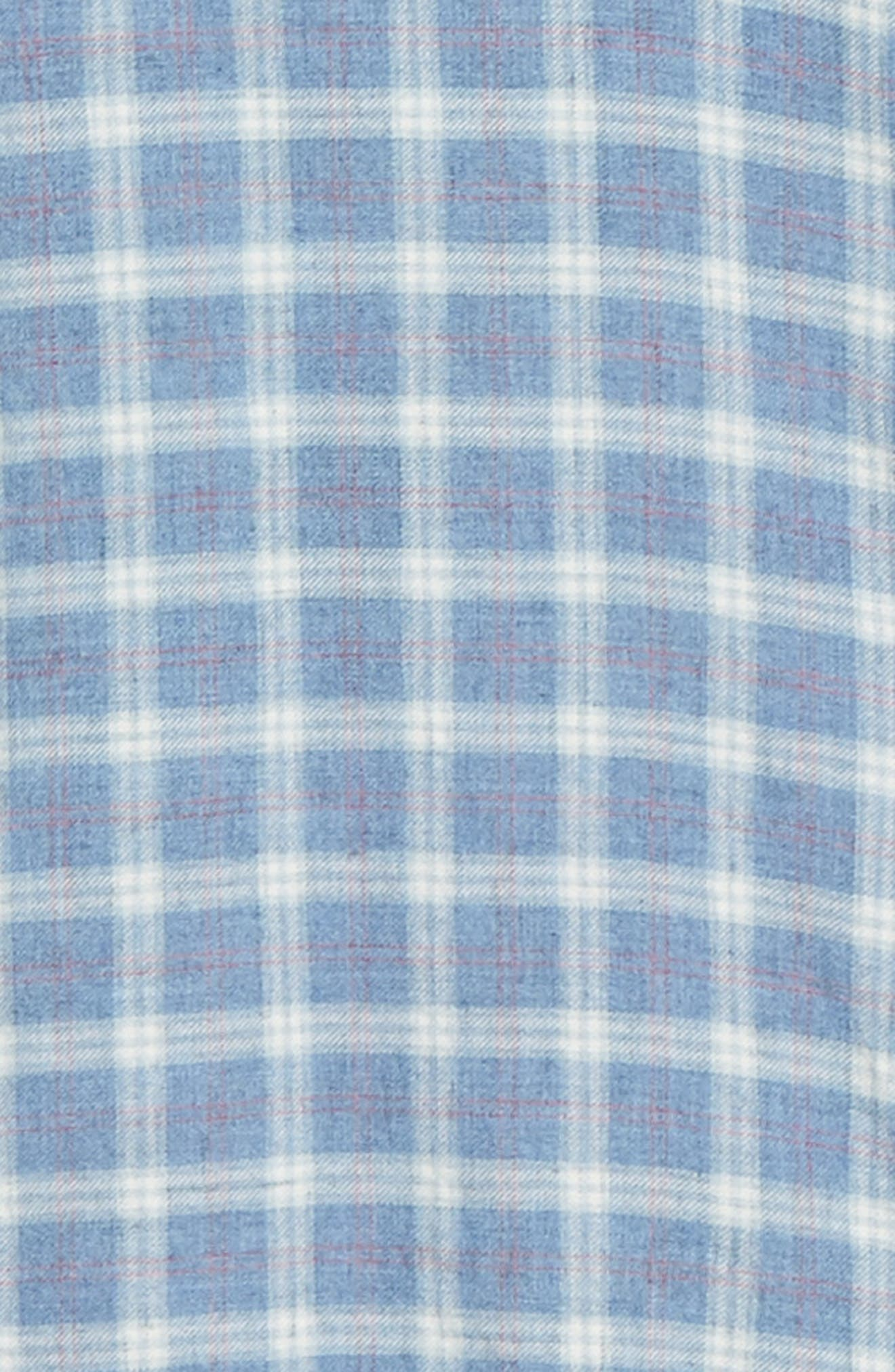 Ventura Oxford Sport Shirt,                             Alternate thumbnail 6, color,                             HEATHER BLUE CHECK
