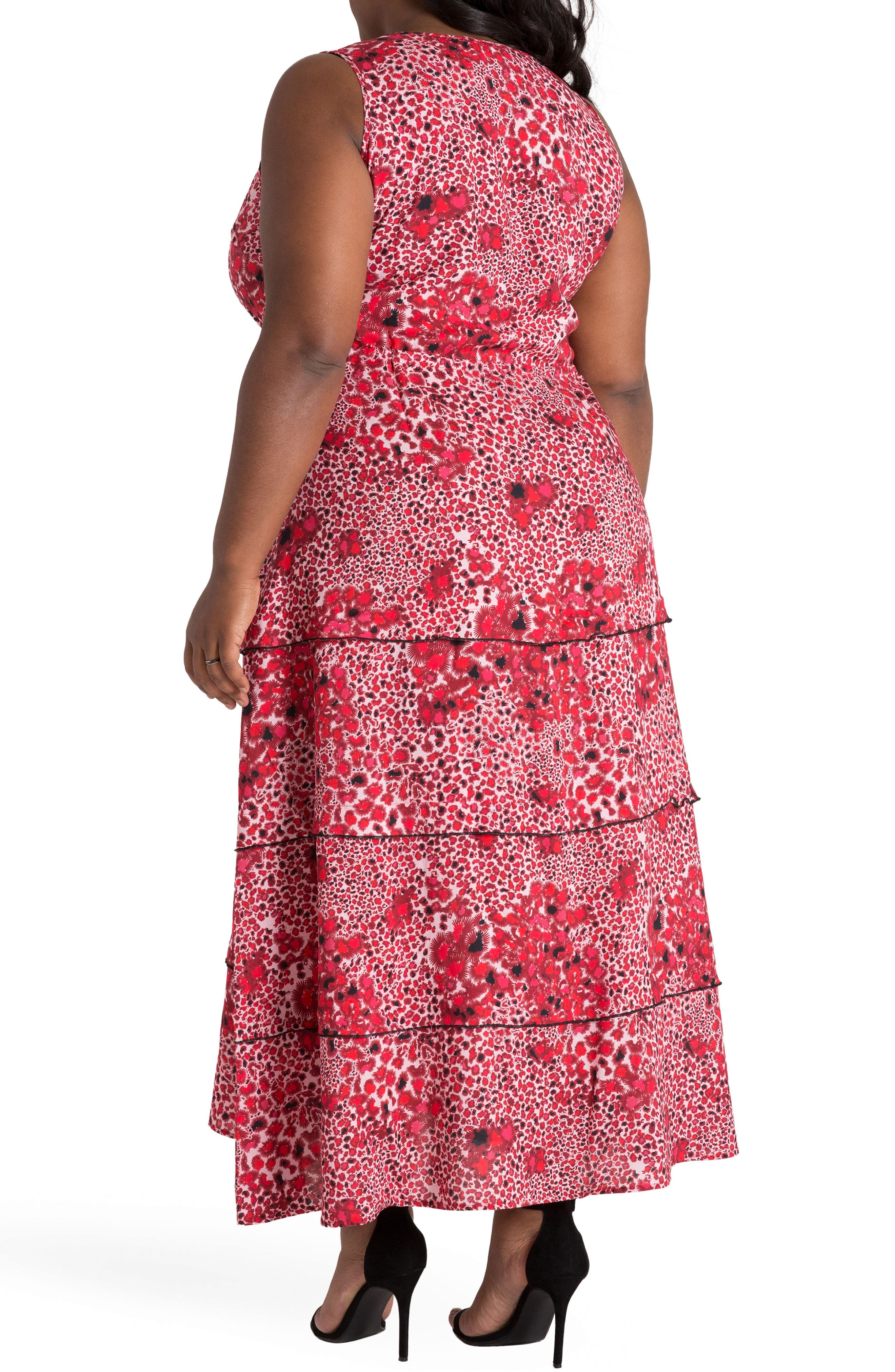Salena Maxi Dress,                             Alternate thumbnail 2, color,                             RED