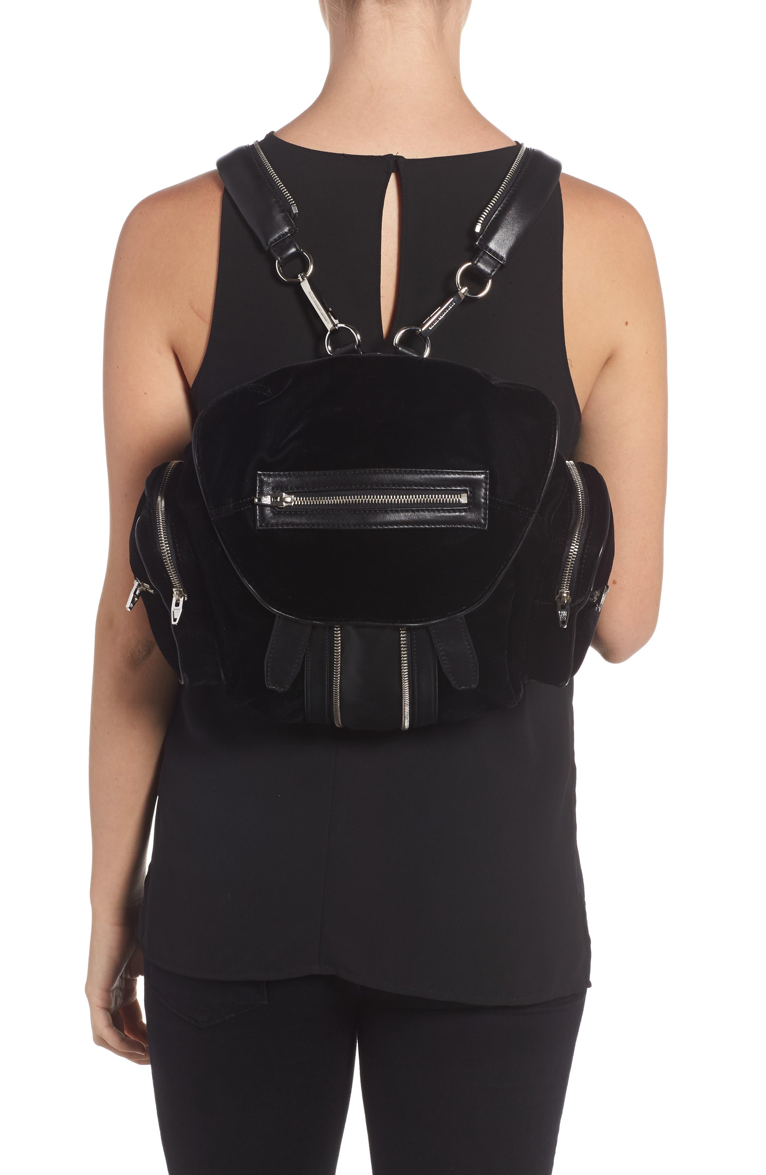 Mini Marti Velvet & Lambskin Leather Backpack,                             Alternate thumbnail 2, color,                             001
