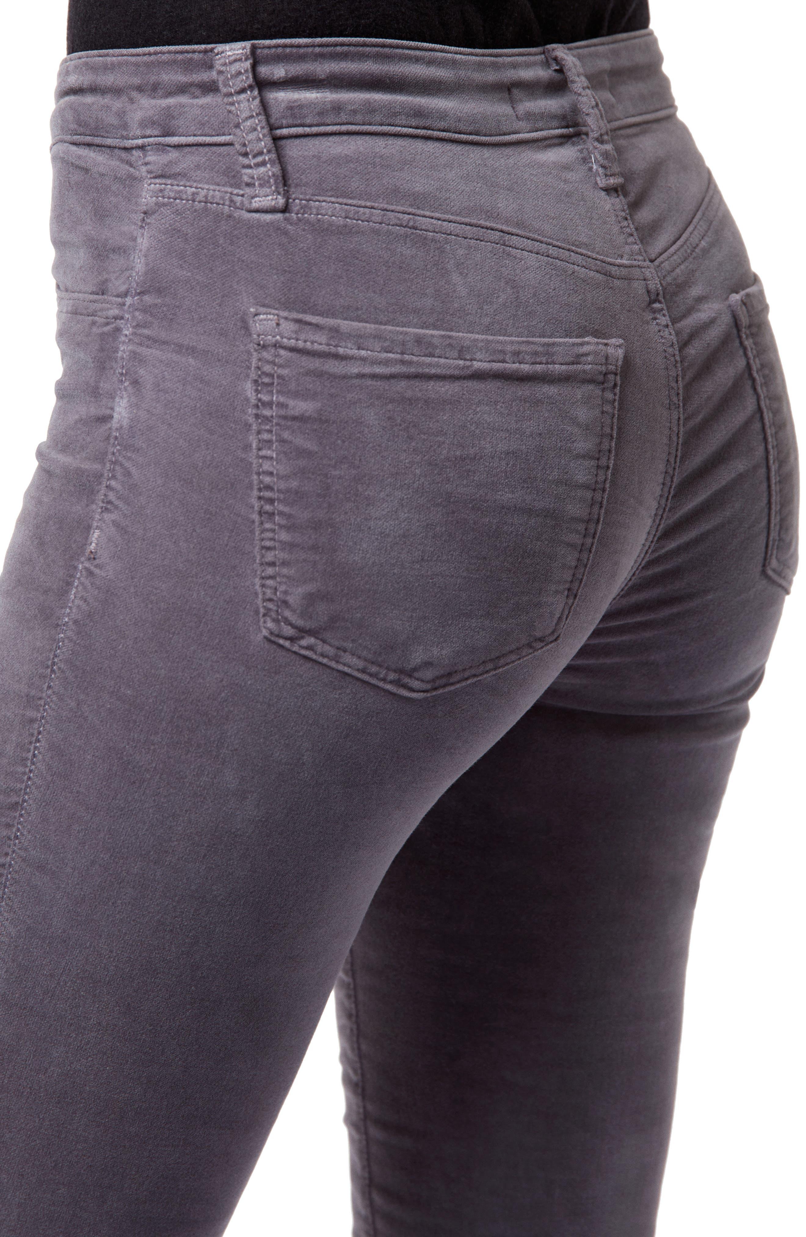 '815' Mid Rise Velveteen Super Skinny Jeans,                             Alternate thumbnail 4, color,                             030