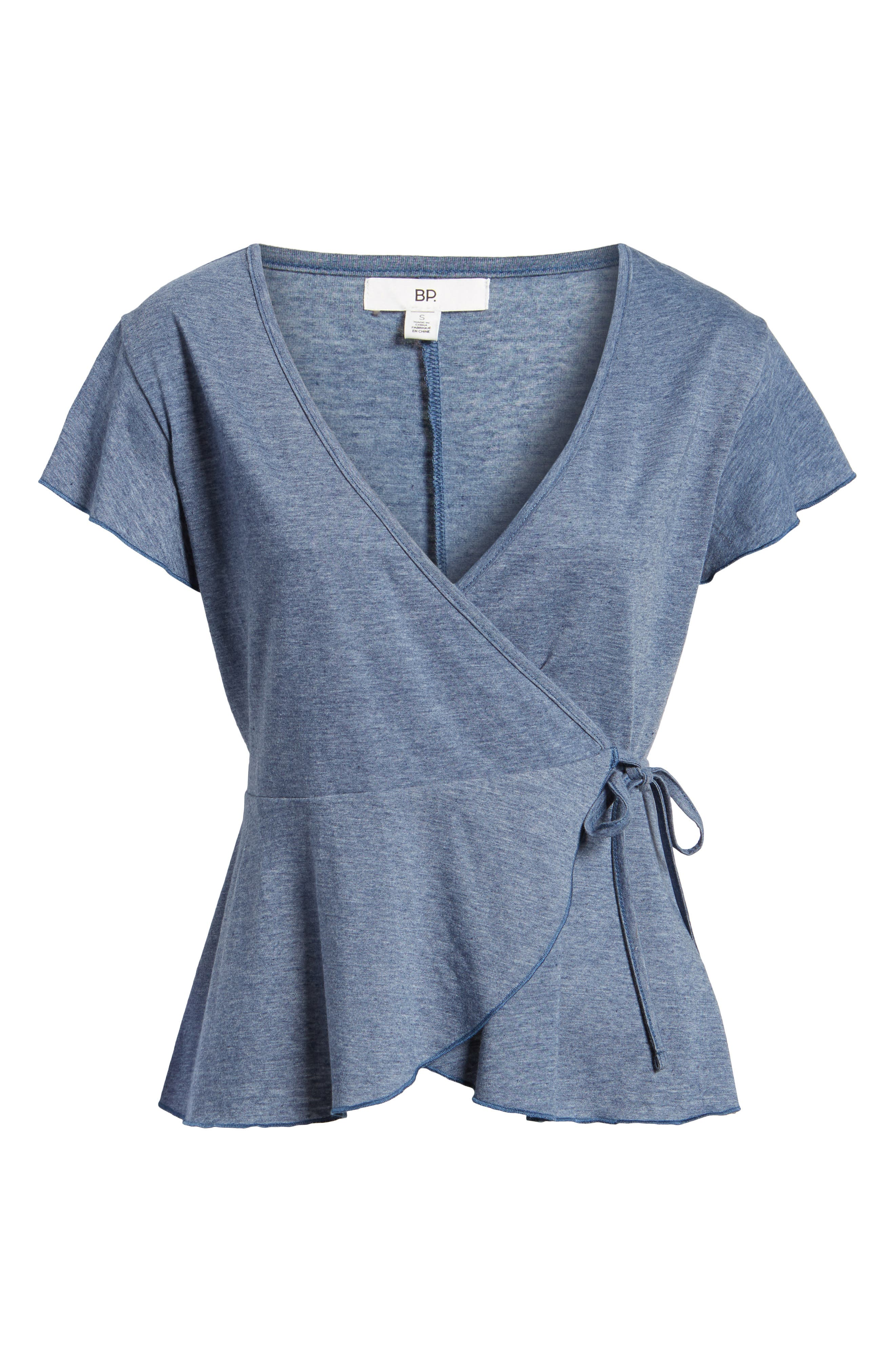 Wrap Peplum Tee,                             Alternate thumbnail 6, color,                             410