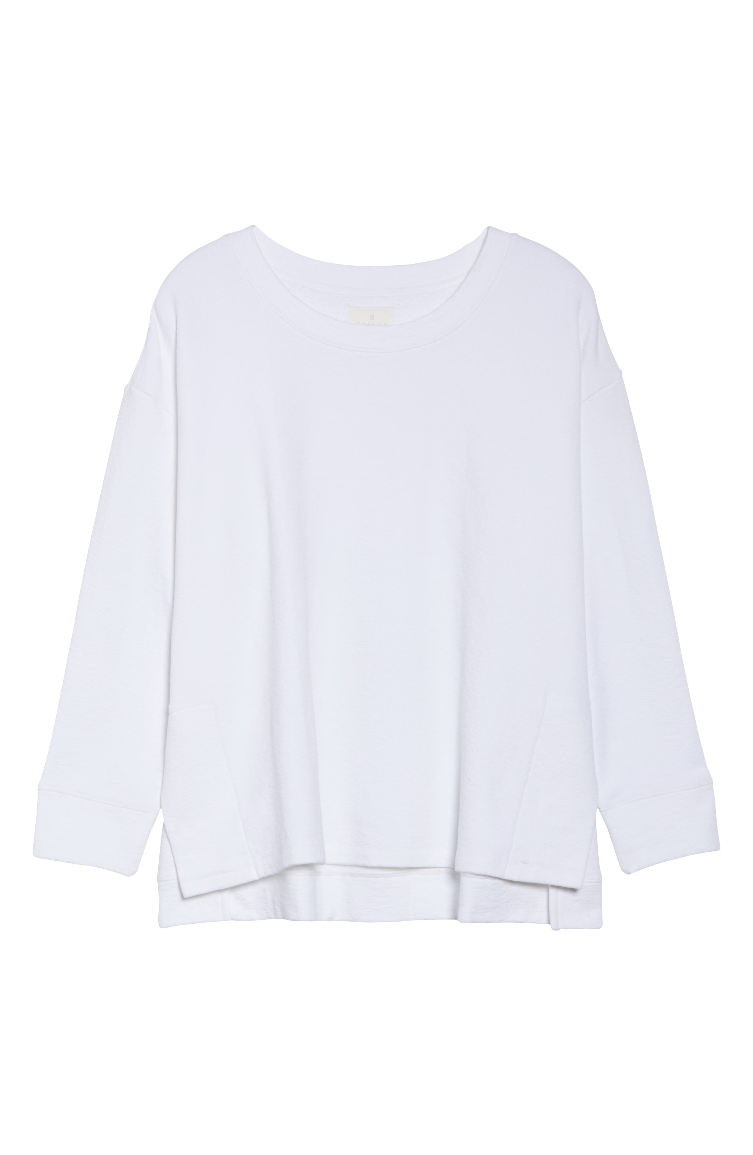 Side Slit Sweatshirt,                             Alternate thumbnail 6, color,                             100