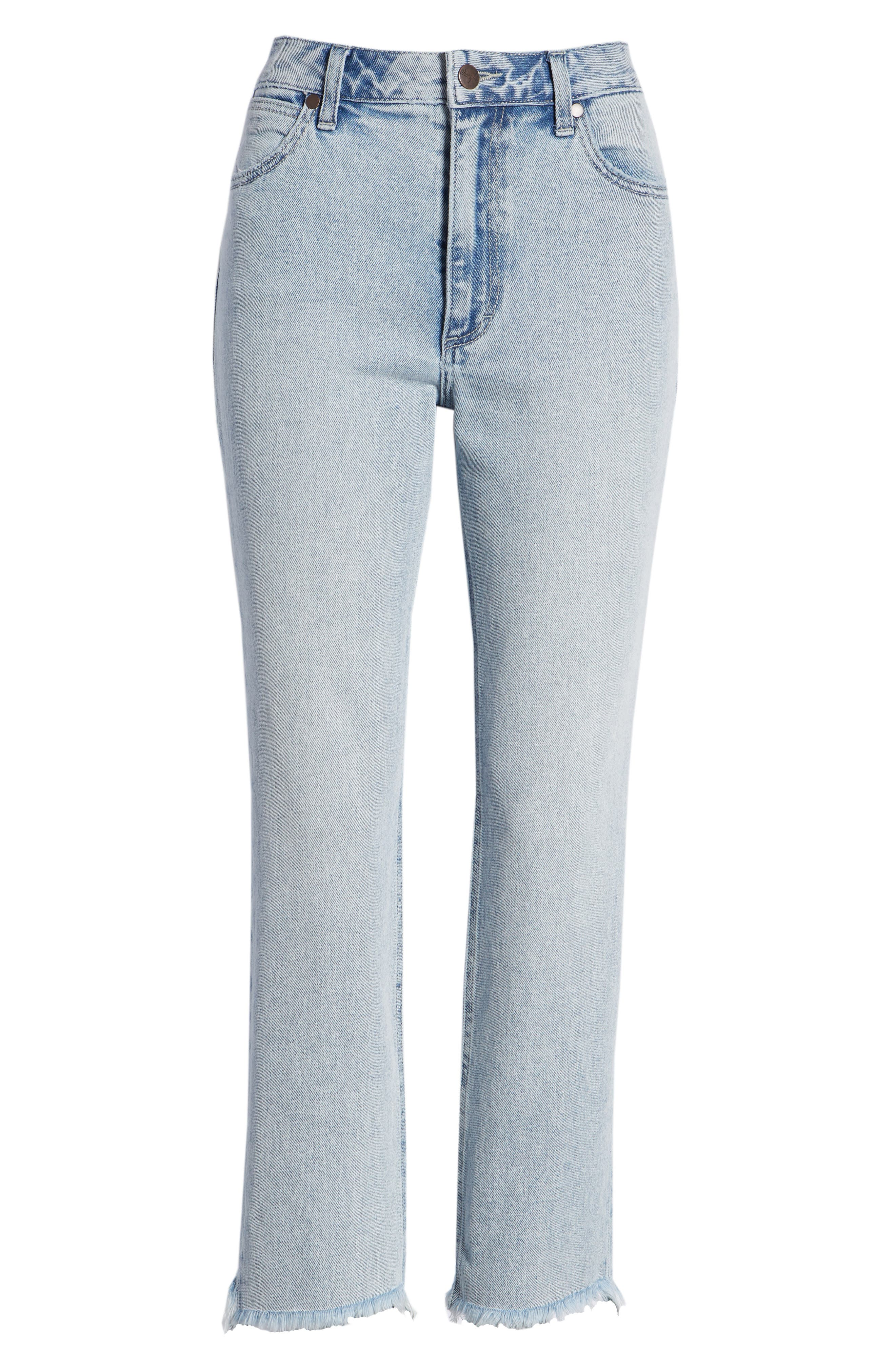 WRANGLER,                             Acid Wash High Waist Crop Jeans,                             Alternate thumbnail 7, color,                             454