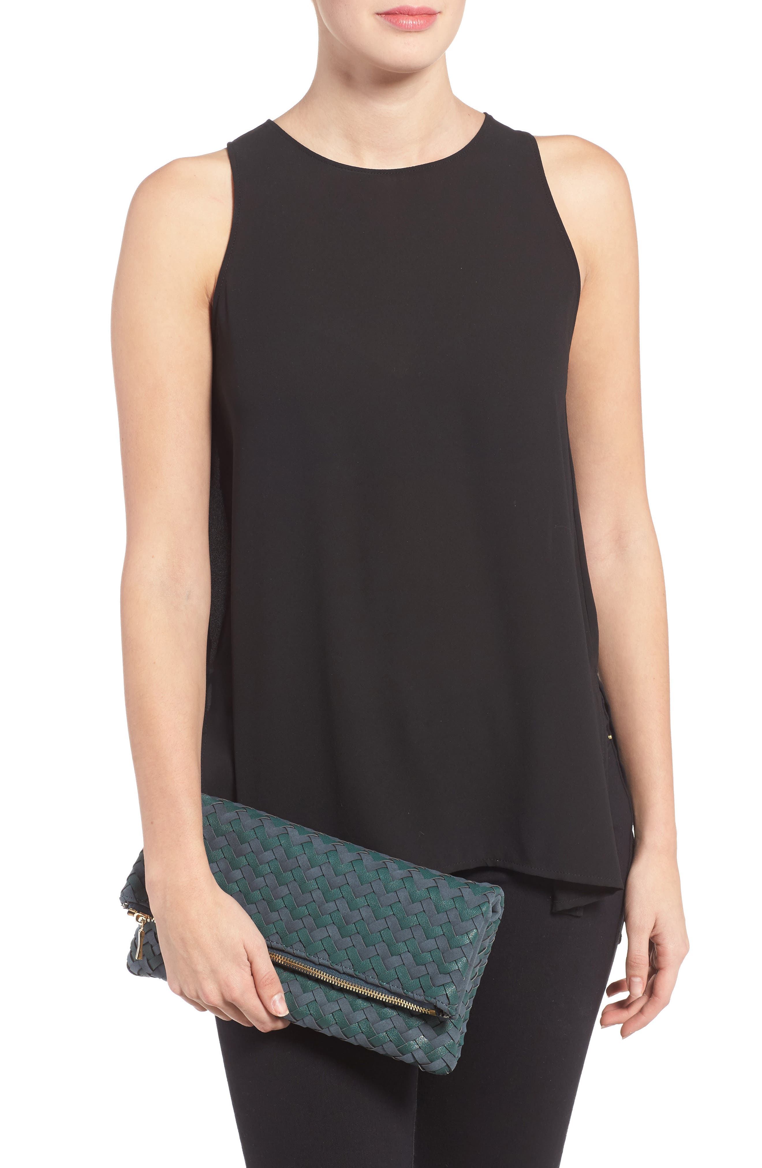 Marlee Woven Clutch,                             Alternate thumbnail 2, color,                             410