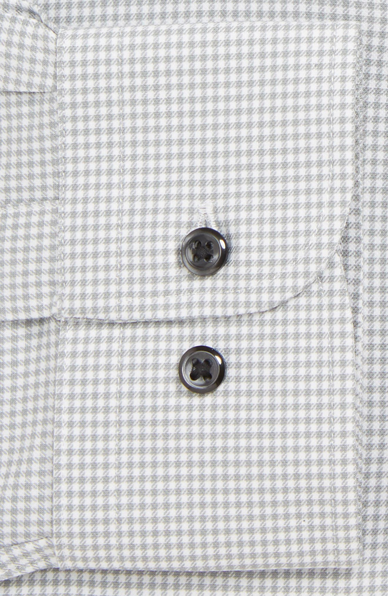 Tech-Smart Traditional Fit Stretch Check Dress Shirt,                             Alternate thumbnail 2, color,                             GREY SLEET