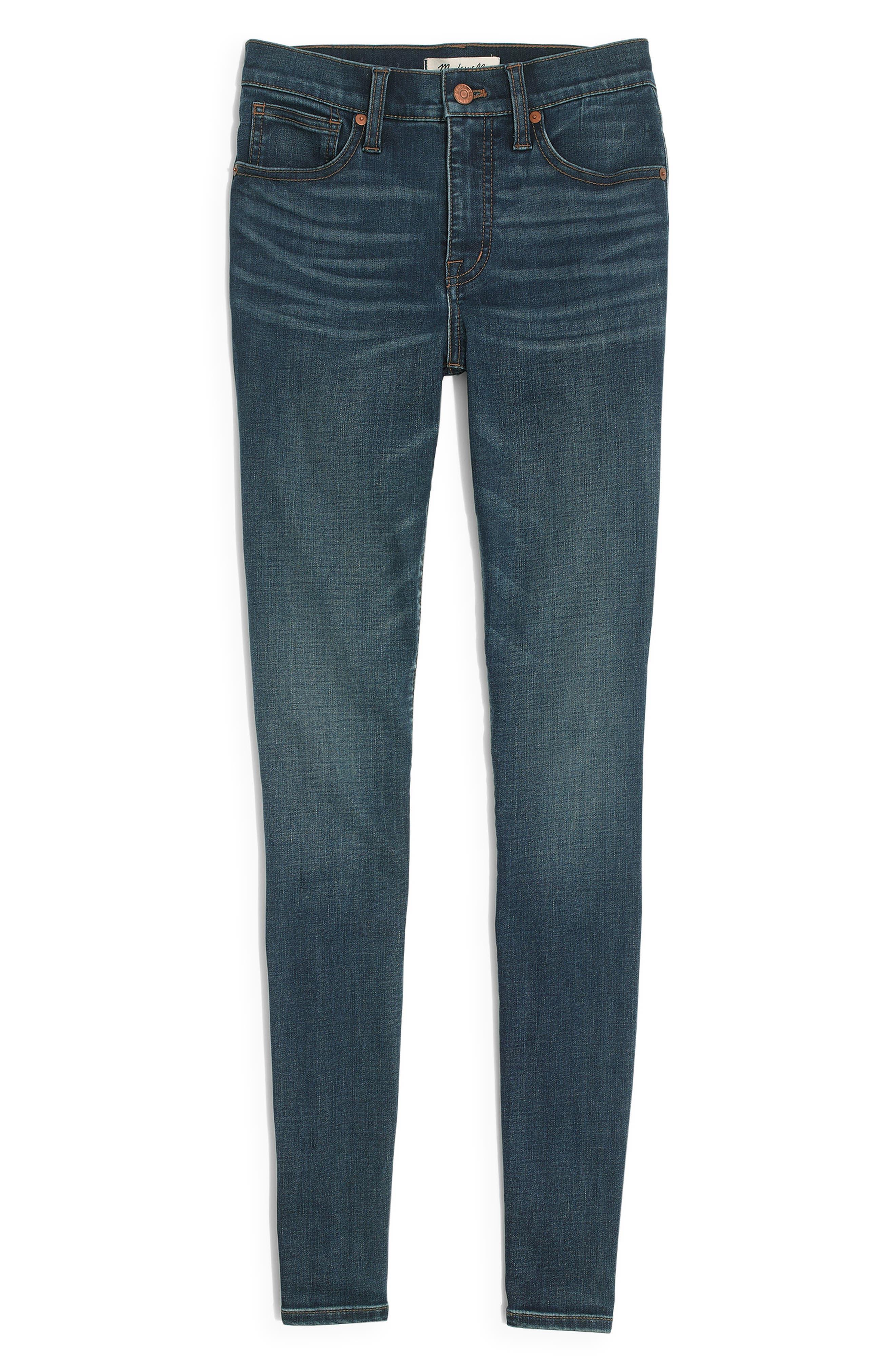 MADEWELL 10-Inch High Waist Skinny Jeans, Main, color, TARREN