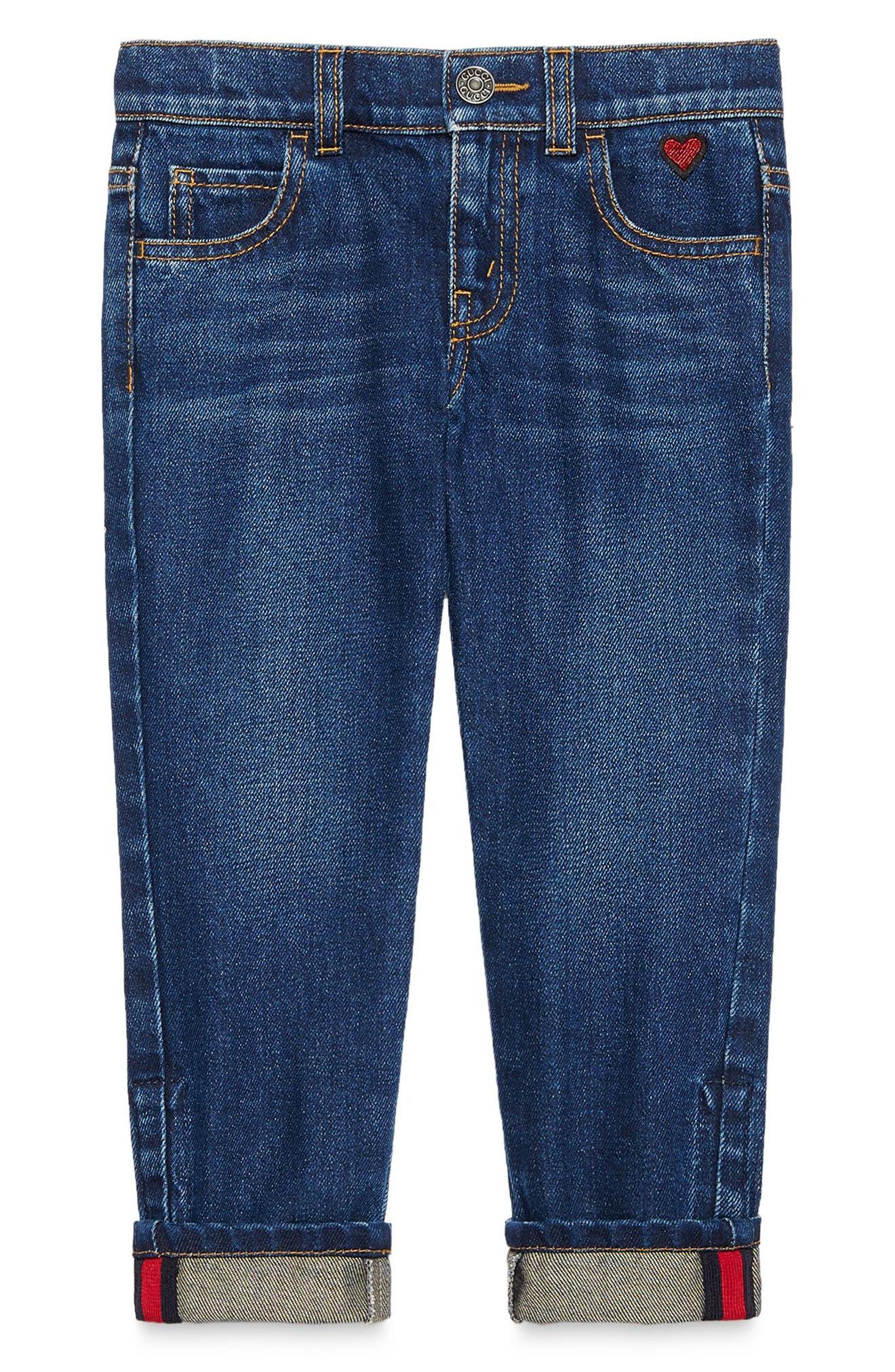 Cuffed Jeans,                             Alternate thumbnail 4, color,                             ORBIT MULTI