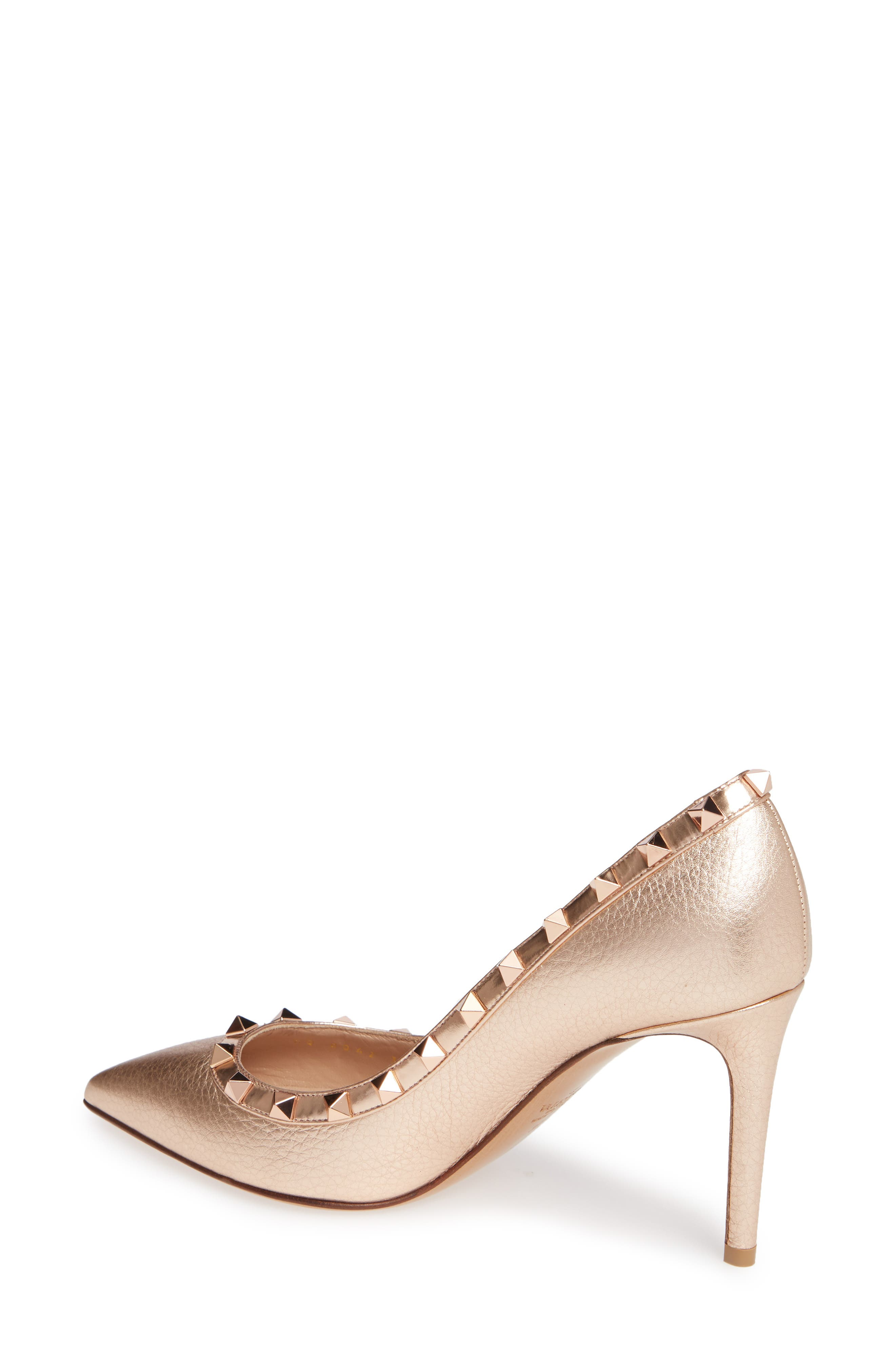 Rockstud Pointy Toe Pump,                             Alternate thumbnail 2, color,                             220