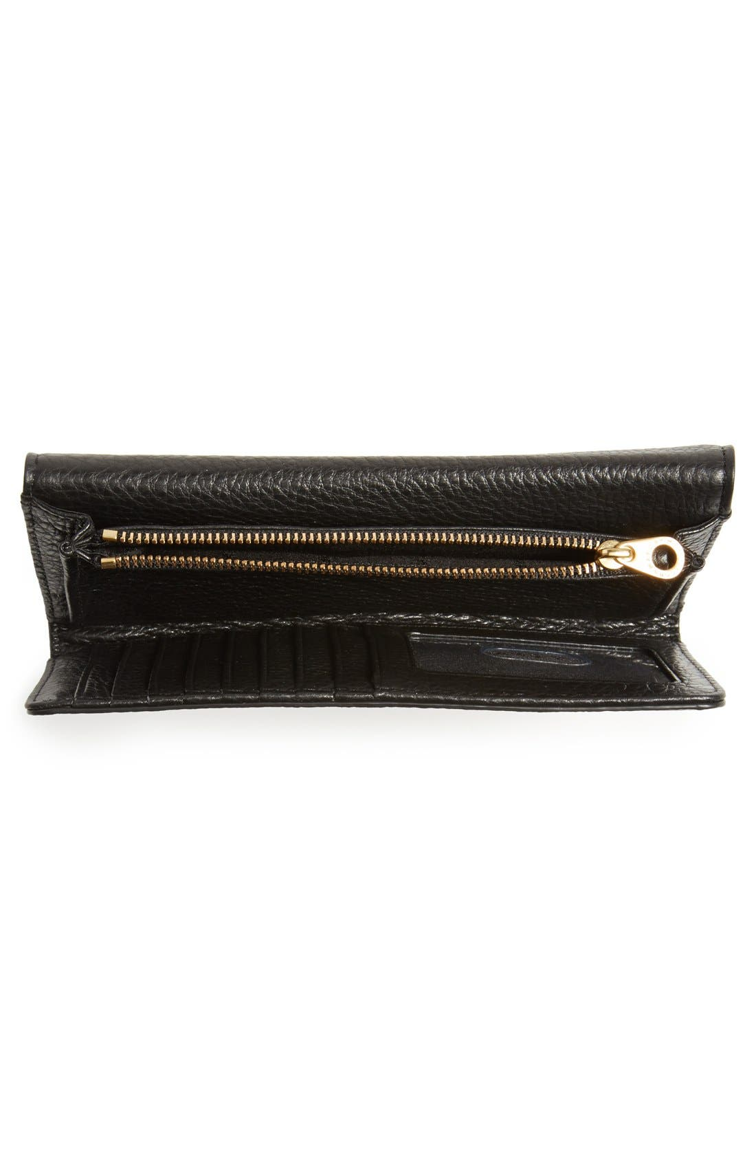 MARC JACOBS,                             MARC BY MARC JACOBS 'Too Hot to Handle' Long Trifold Wallet,                             Alternate thumbnail 3, color,                             001