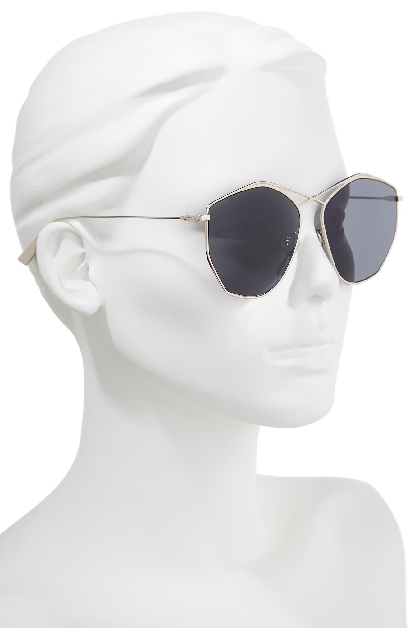 59mm Metal Sunglasses,                             Alternate thumbnail 2, color,                             LIGHT GOLD